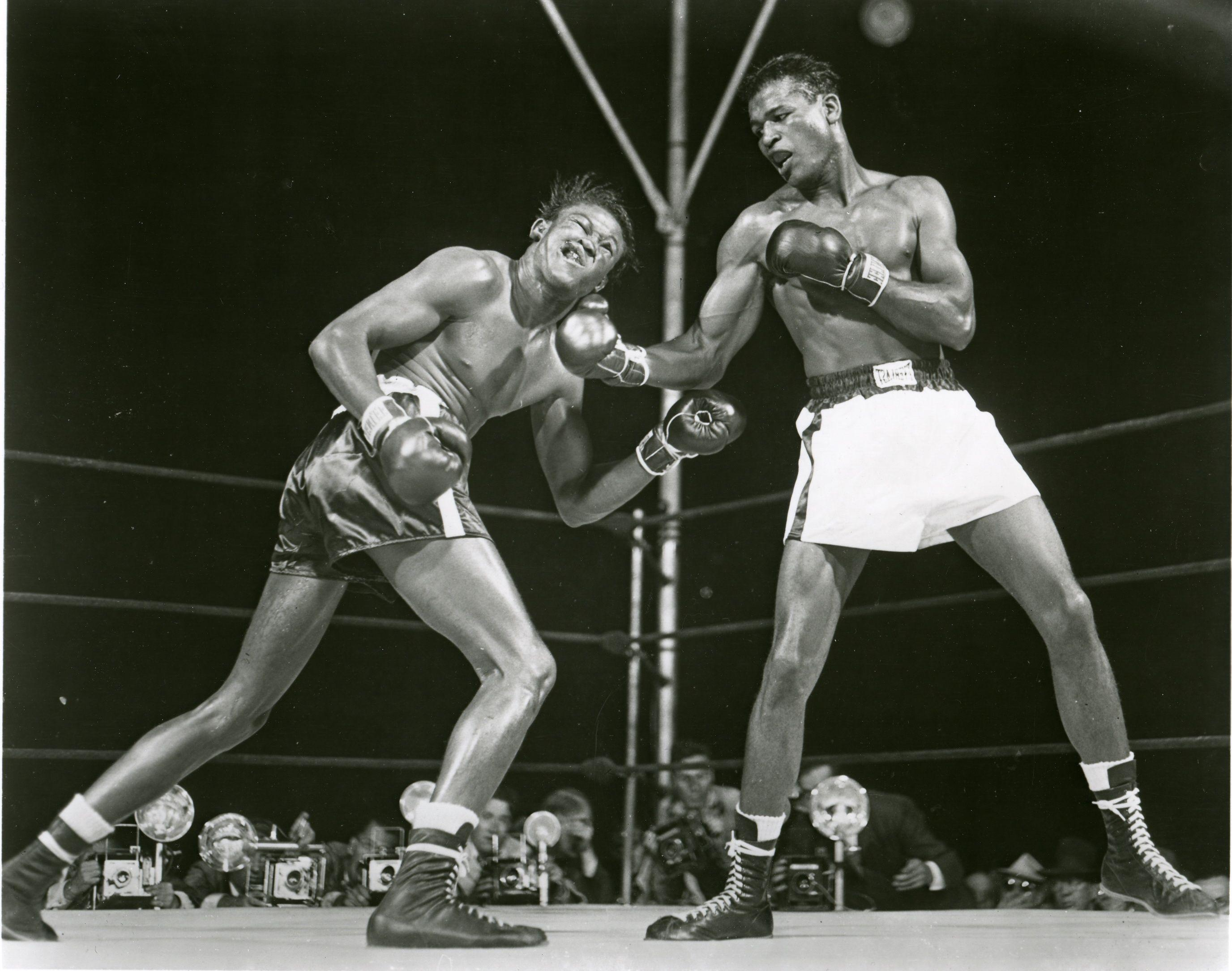 Sugar Ray Robinson puts the kibosh on Kid Gavilan | Boxing | Sugar ...