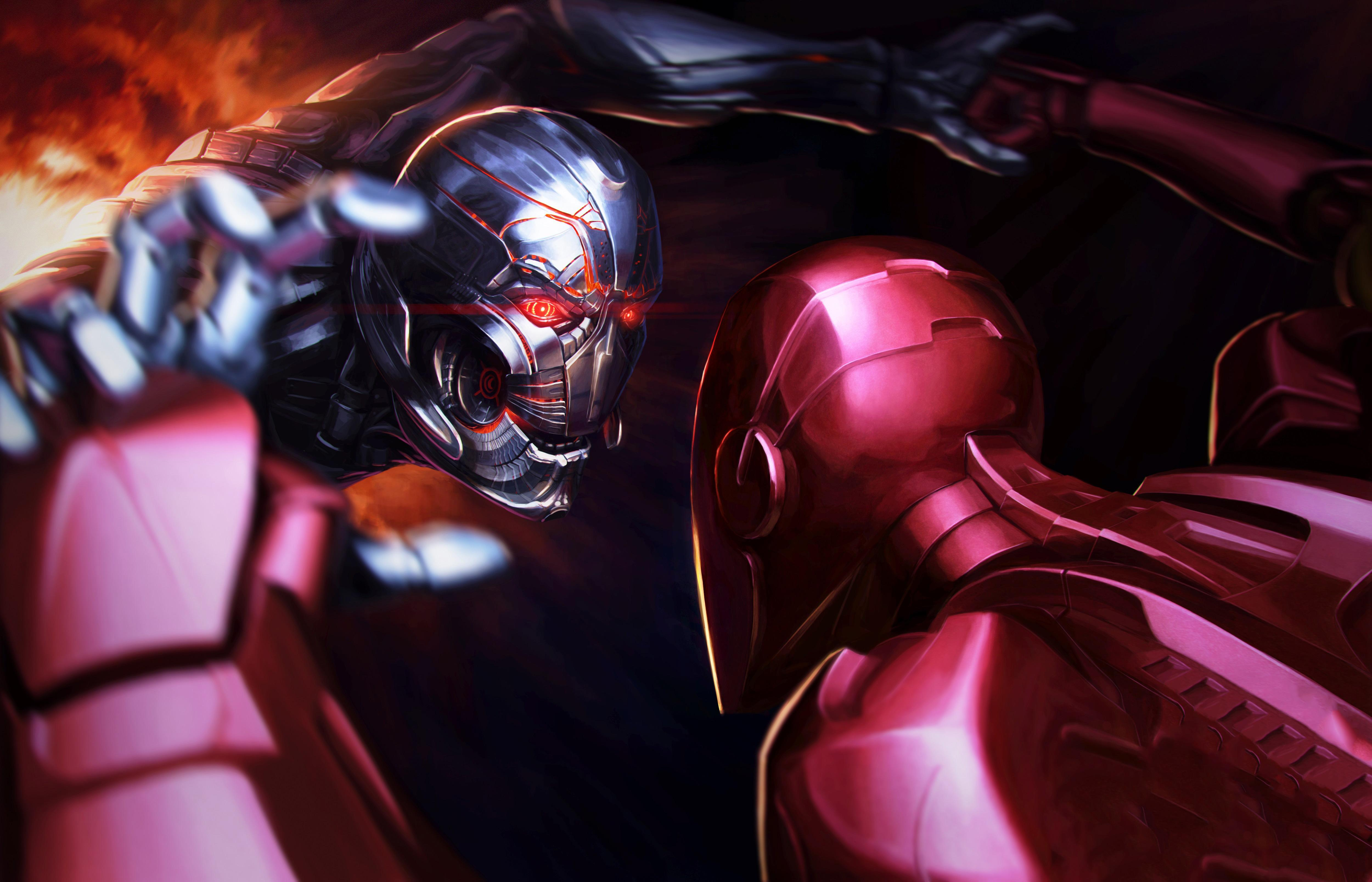 Iron Man Vs Thanos Wallpapers Wallpaper Cave