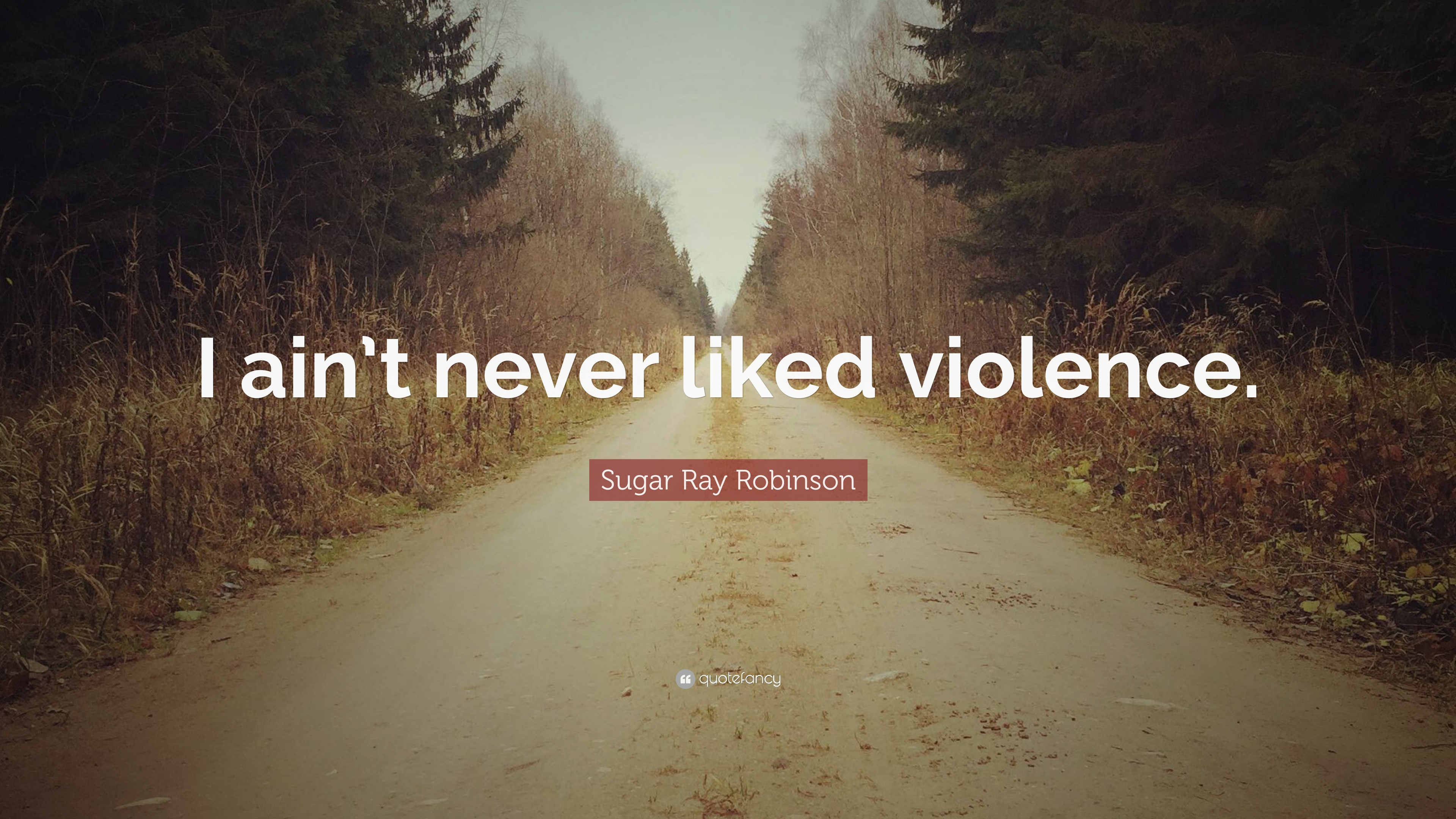 "Sugar Ray Robinson Quote: ""I ain't never liked violence."" (7 ..."