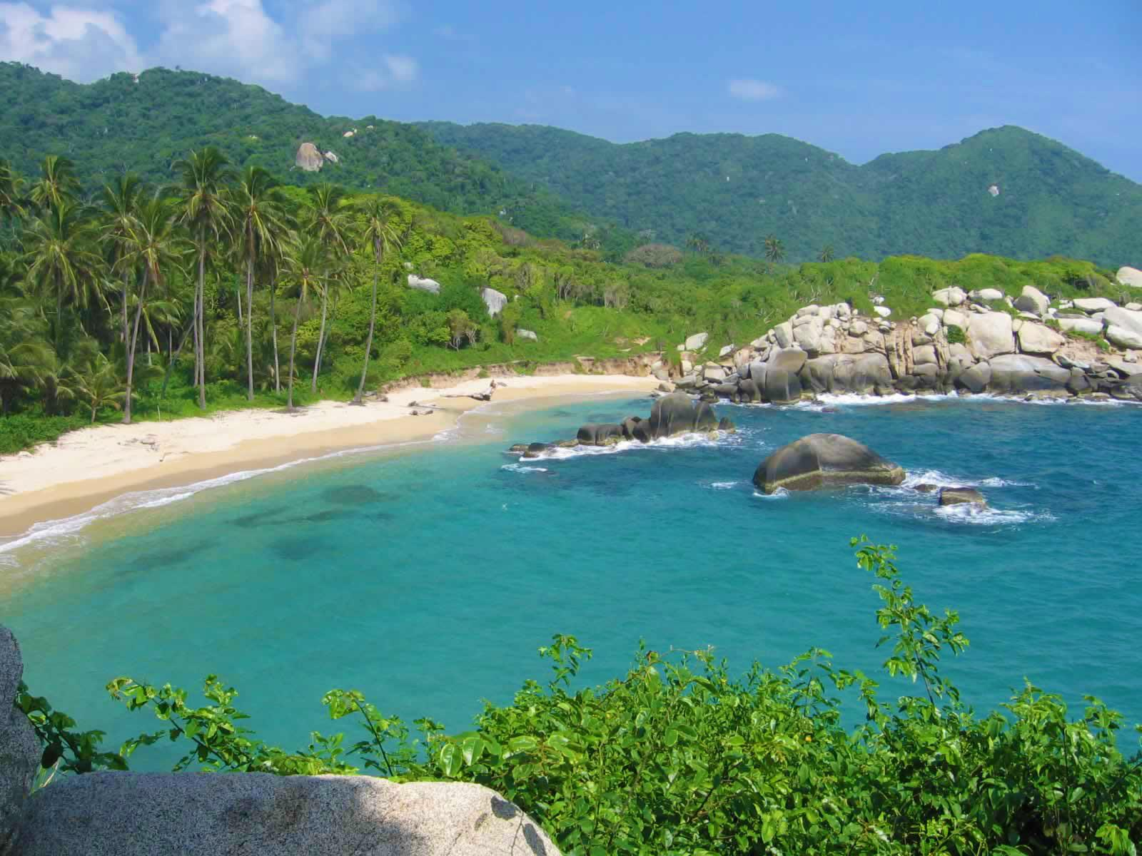 Hidden Beach in Tayrona National Park, Santa Marta, Colombia