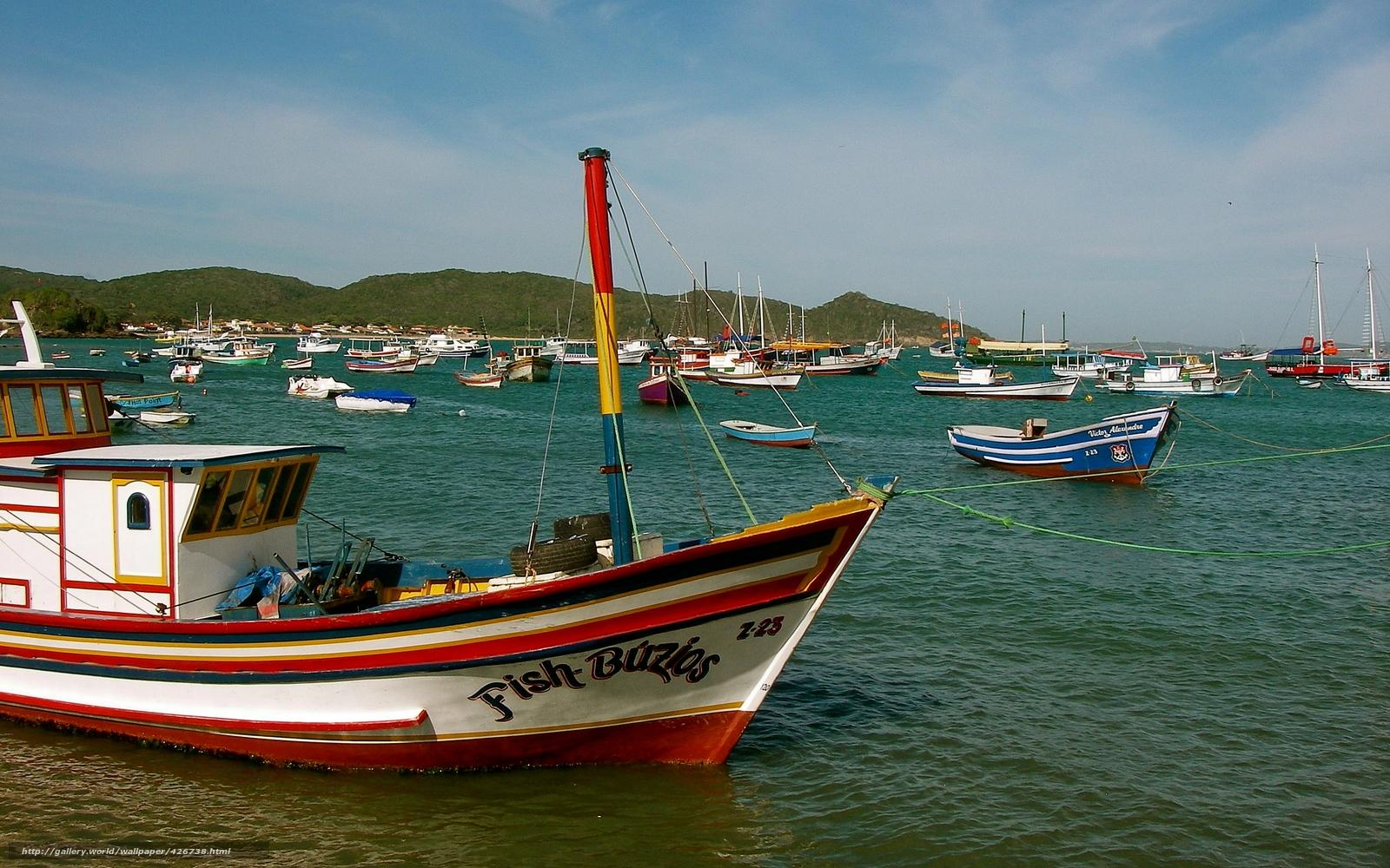 Buzios, brazil, fish, boats, colorful, coordinates