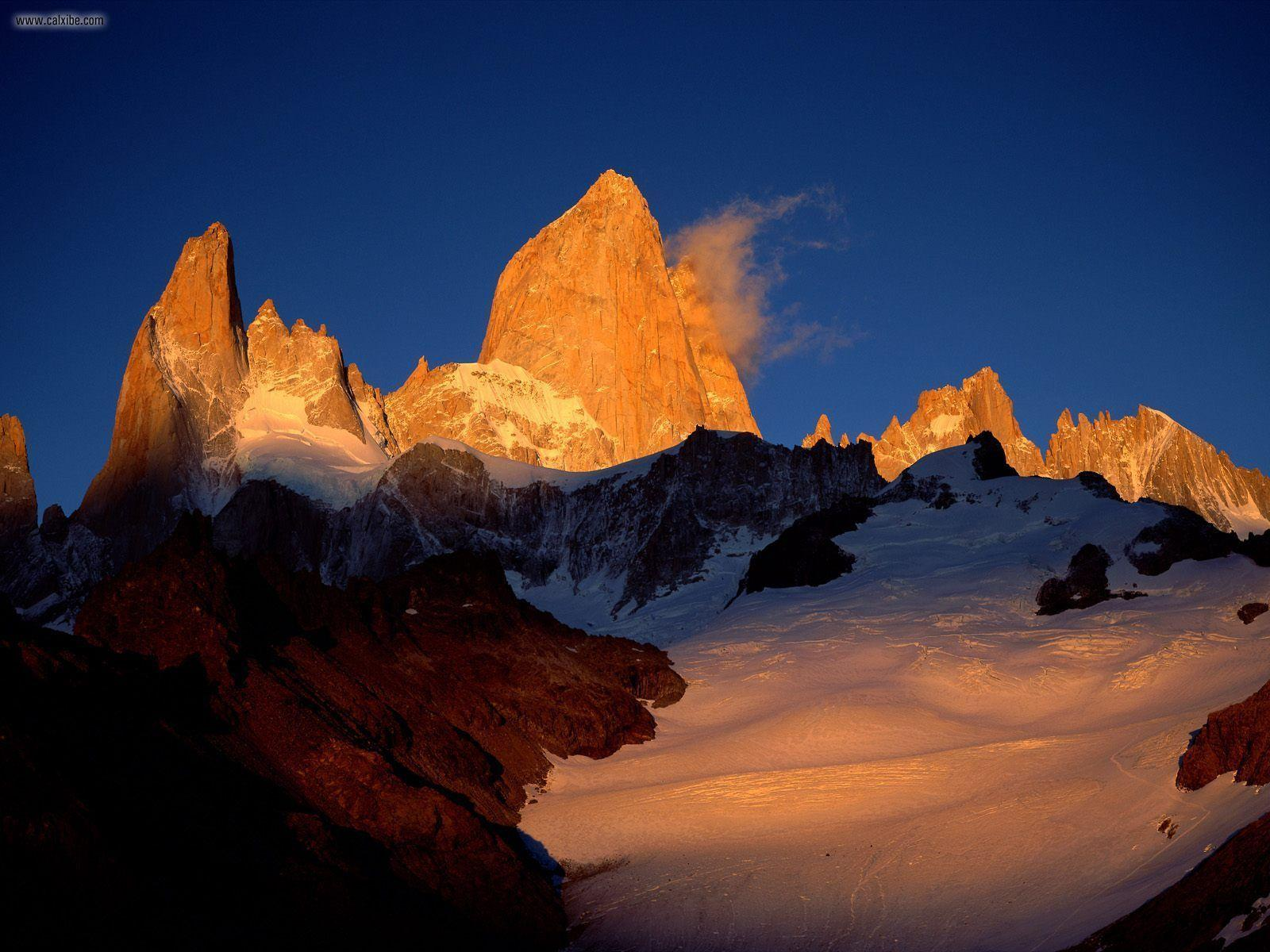 Nature: Mount Fitzroy Los Glaciares National Park Argentina, picture