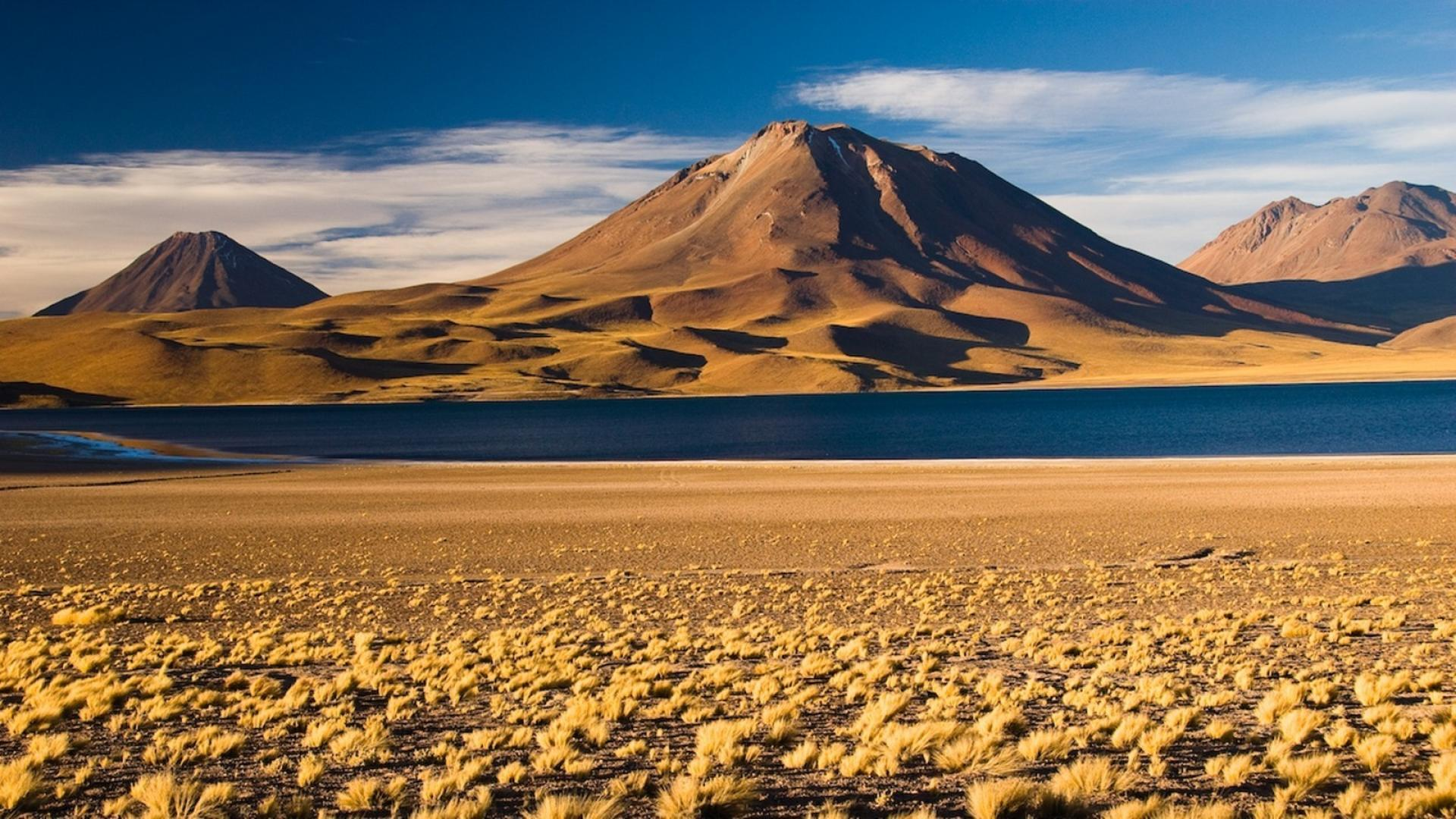Andes atacama desert chile steppe beige wallpapers