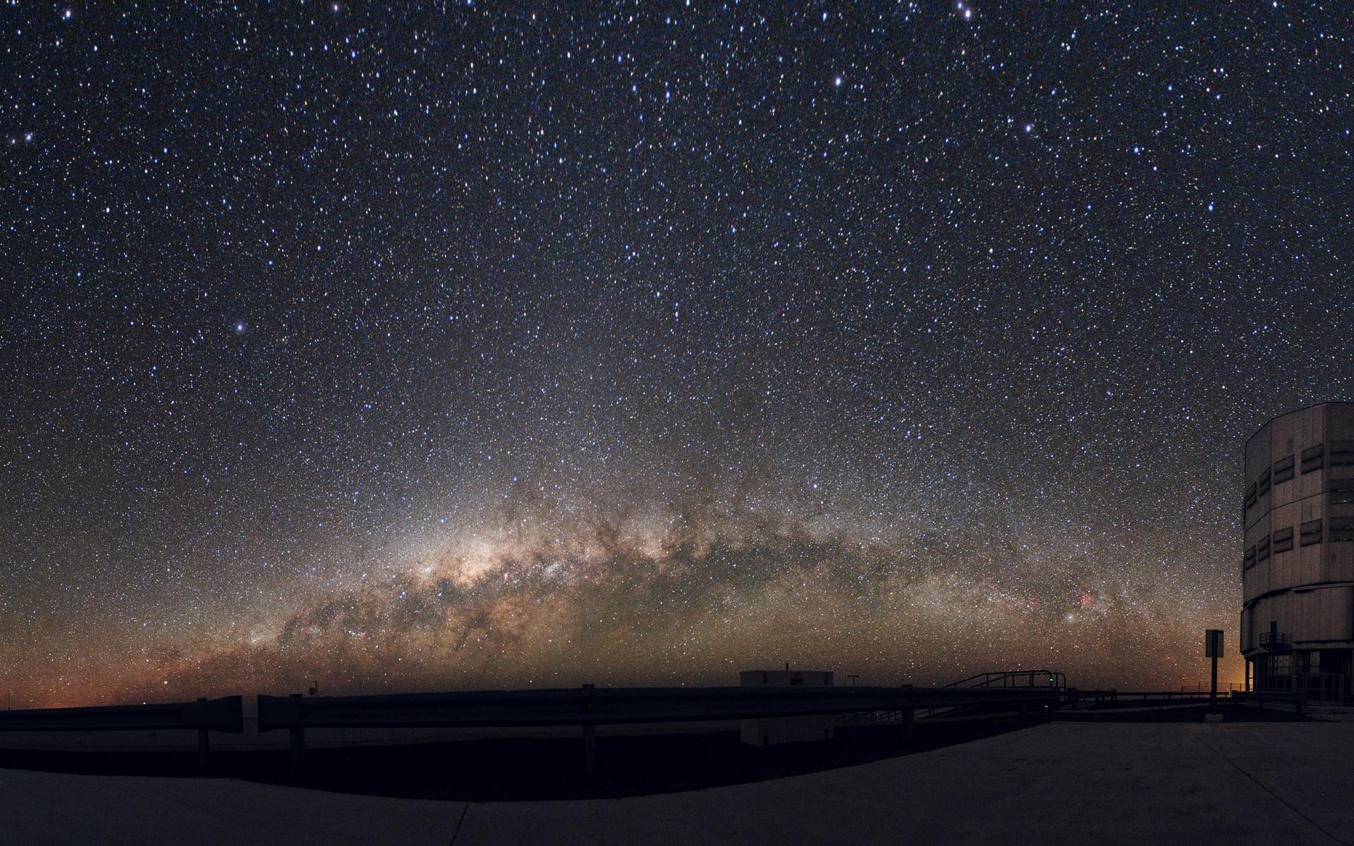 Milky Way Over the Desert Space Wallpapers