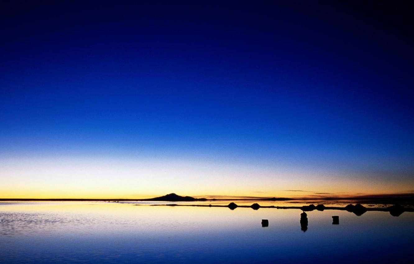 Wallpapers mountains, the evening, bolivia, salt marsh, potosi, salar