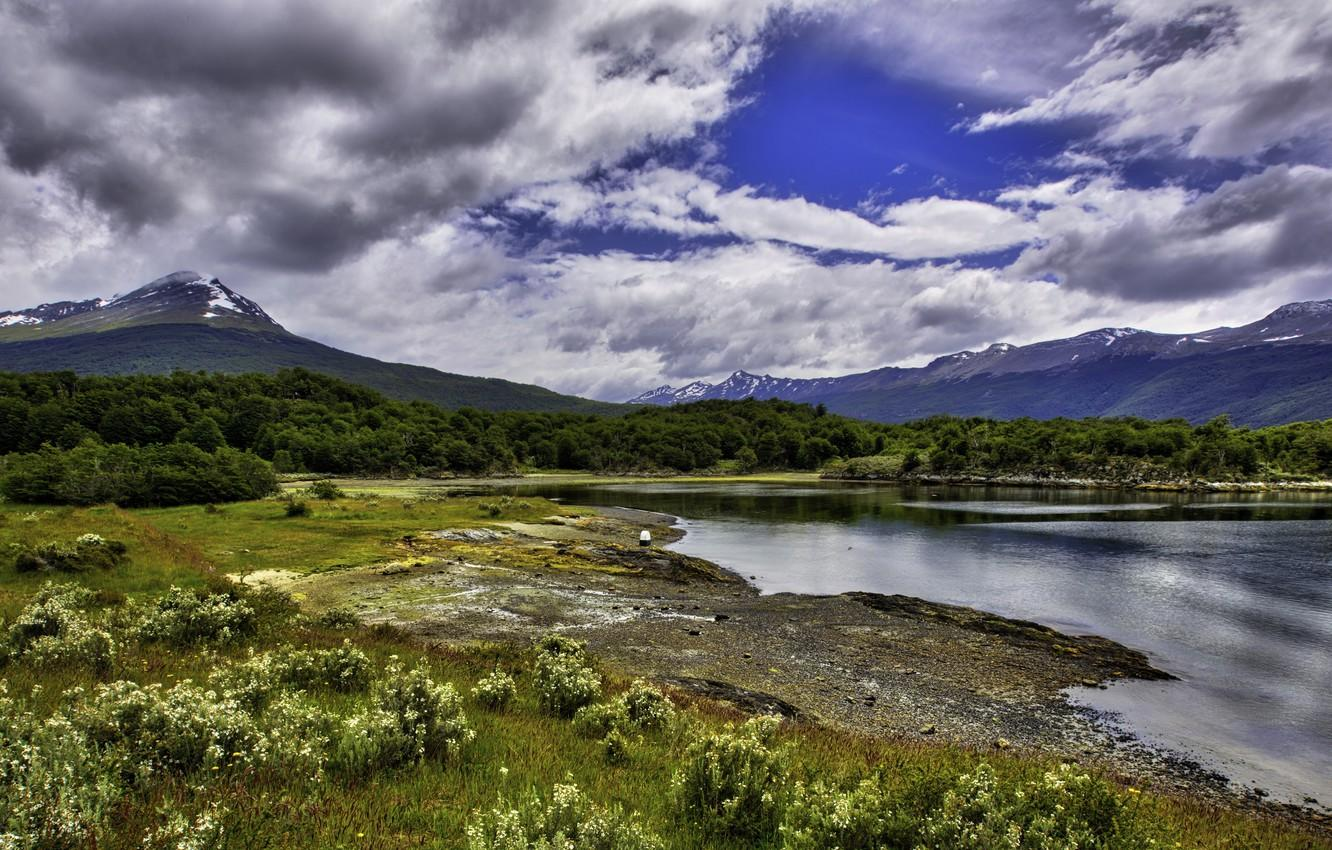 Wallpapers the sky, clouds, mountains, Argentina, Argentina, Ushuaia