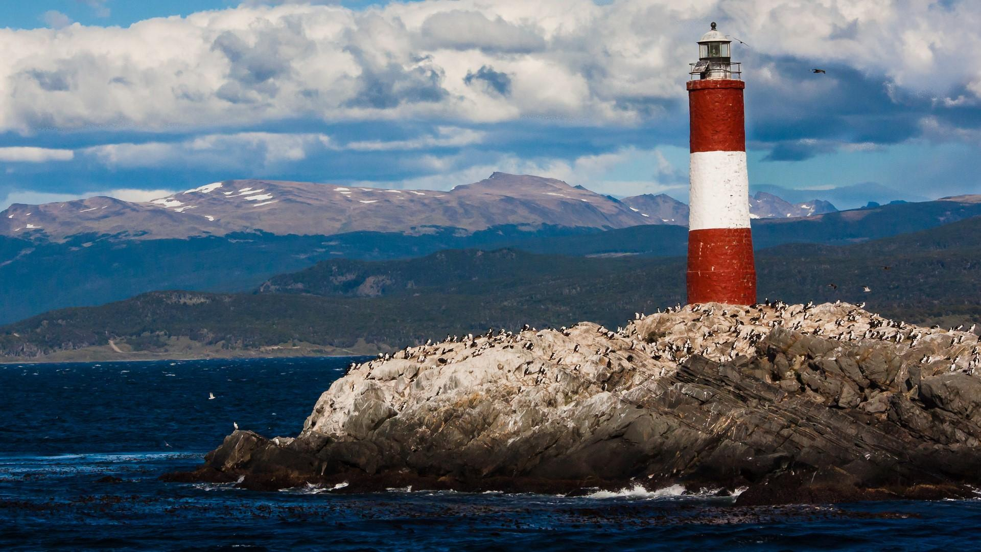 Lighthouse in the Beagle Channel near Ushuaia, Tierra Del Fuego