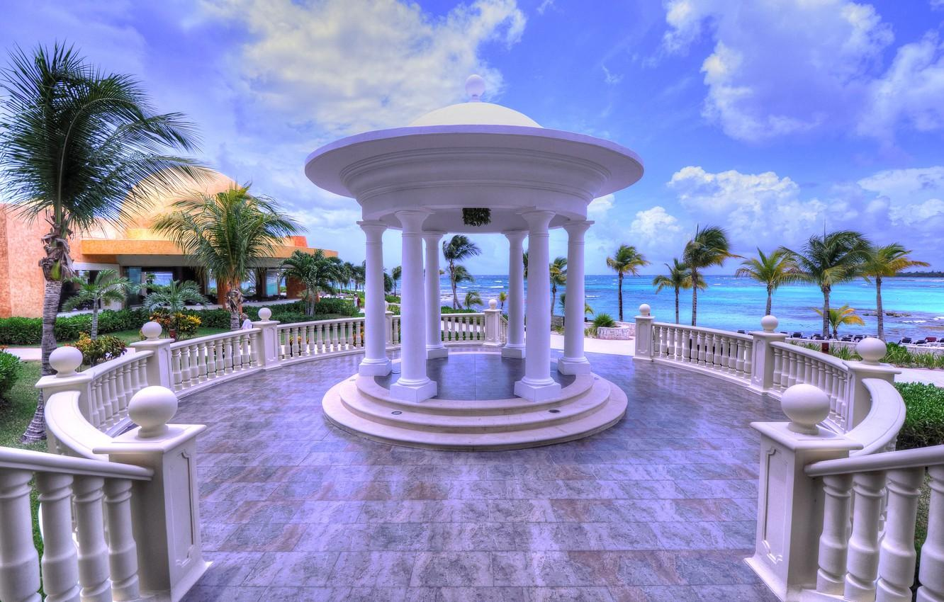 Wallpapers sea, stay, Mexico, the hotel, resort, gazebo, The Riviera