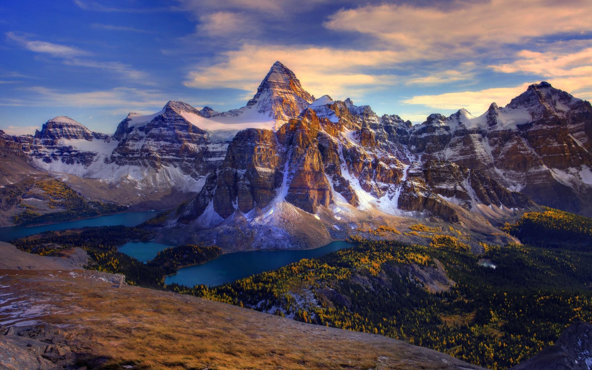 mountains, snow, Canada, British Columbia, landscapes, canadian