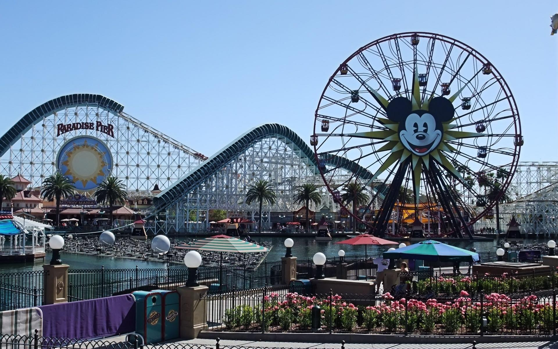Wallpapers city, attraction, park, paradise pier, disneyland
