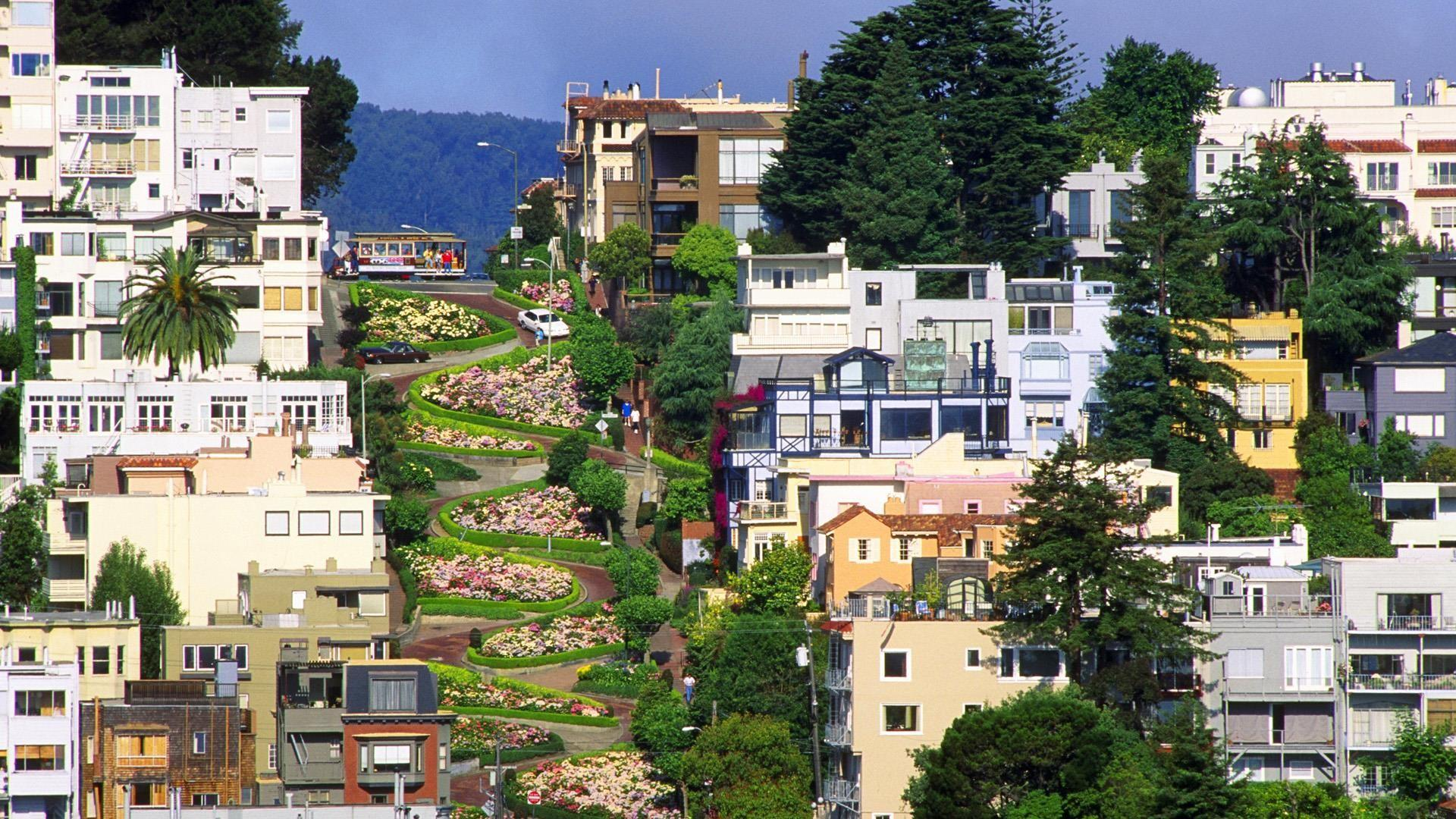 Lombard Street,San Francisco,California[1920x1080] : wallpapers