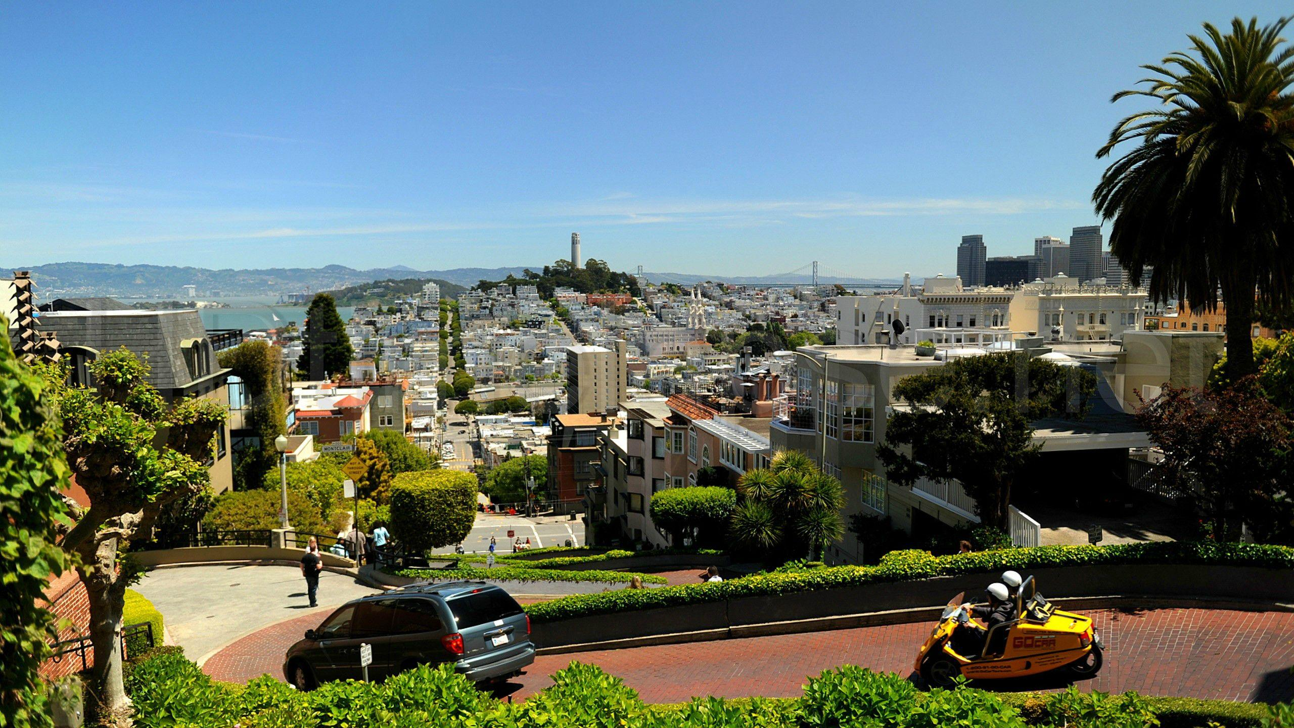 Lombard Street, San Francisco, California [2560x1440] : wallpapers