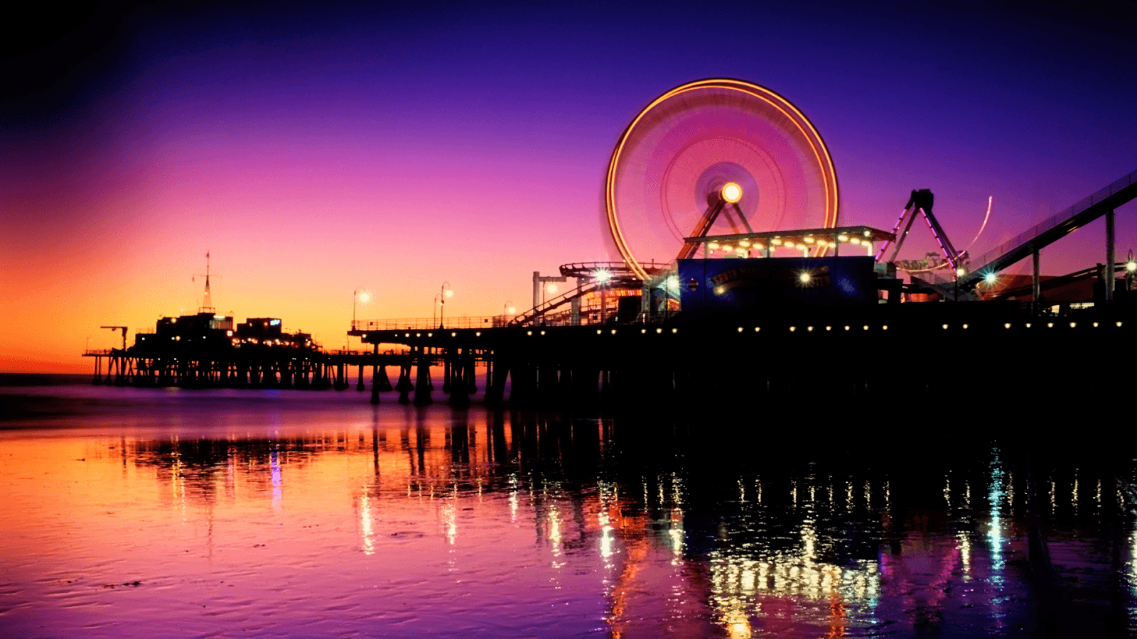 1600x900px Santa Monica Pier Wallpapers