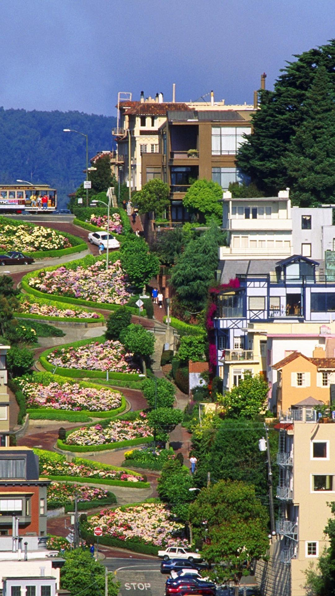 Lombard street san francisco architecture streets wallpapers