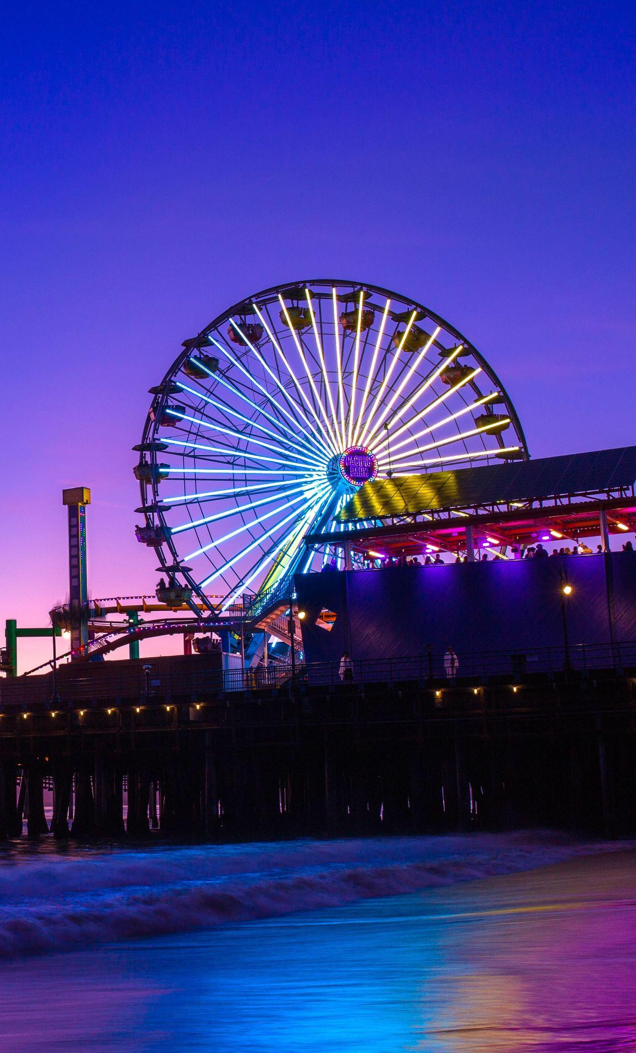 1280x2120 Santa Monica Pier 5k iPhone 6+ HD 4k Wallpapers, Image