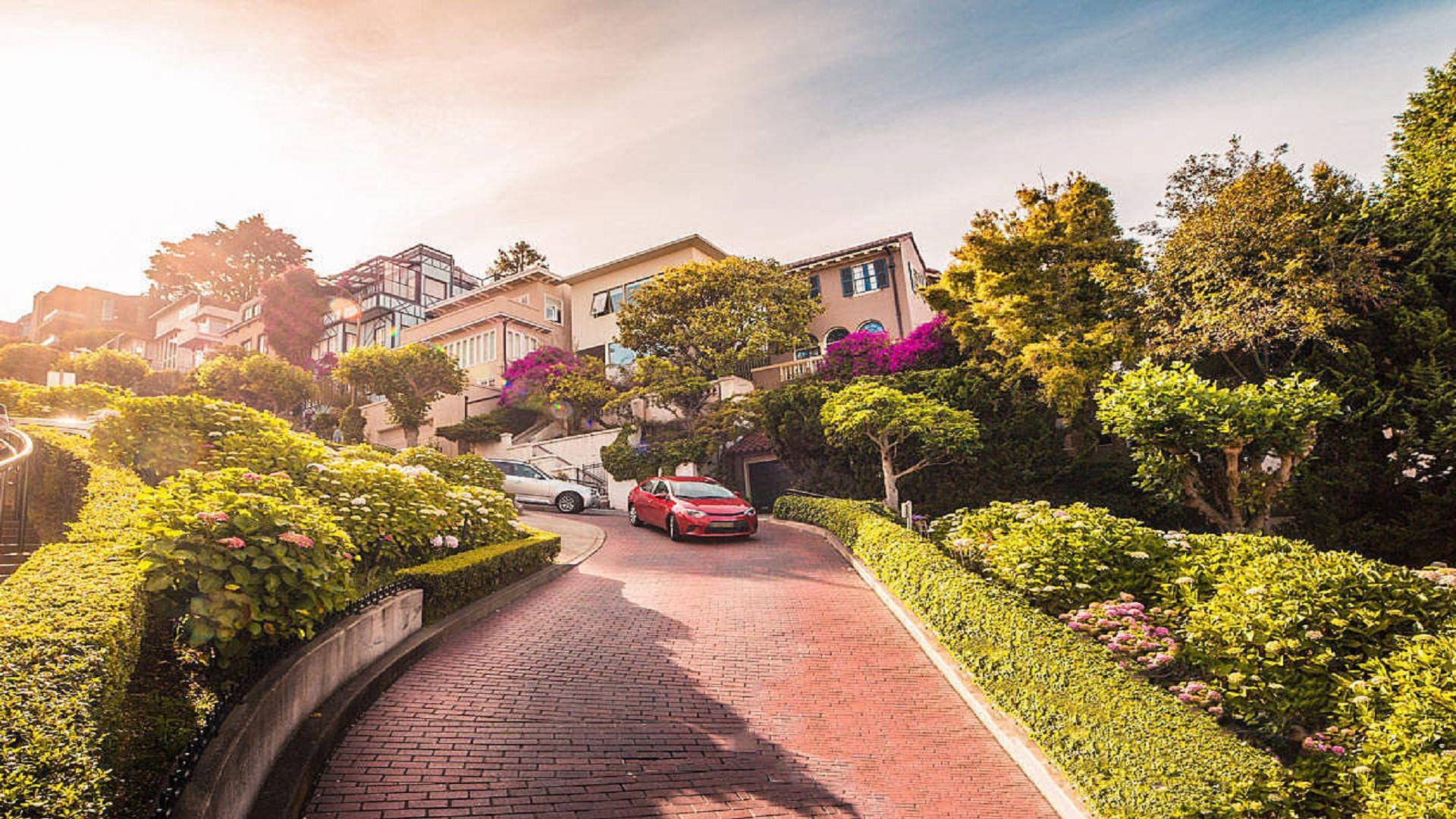 LOMBARD STREET IN SAN FRANCISCO, CALIFORNIA [1920x1080] : wallpapers