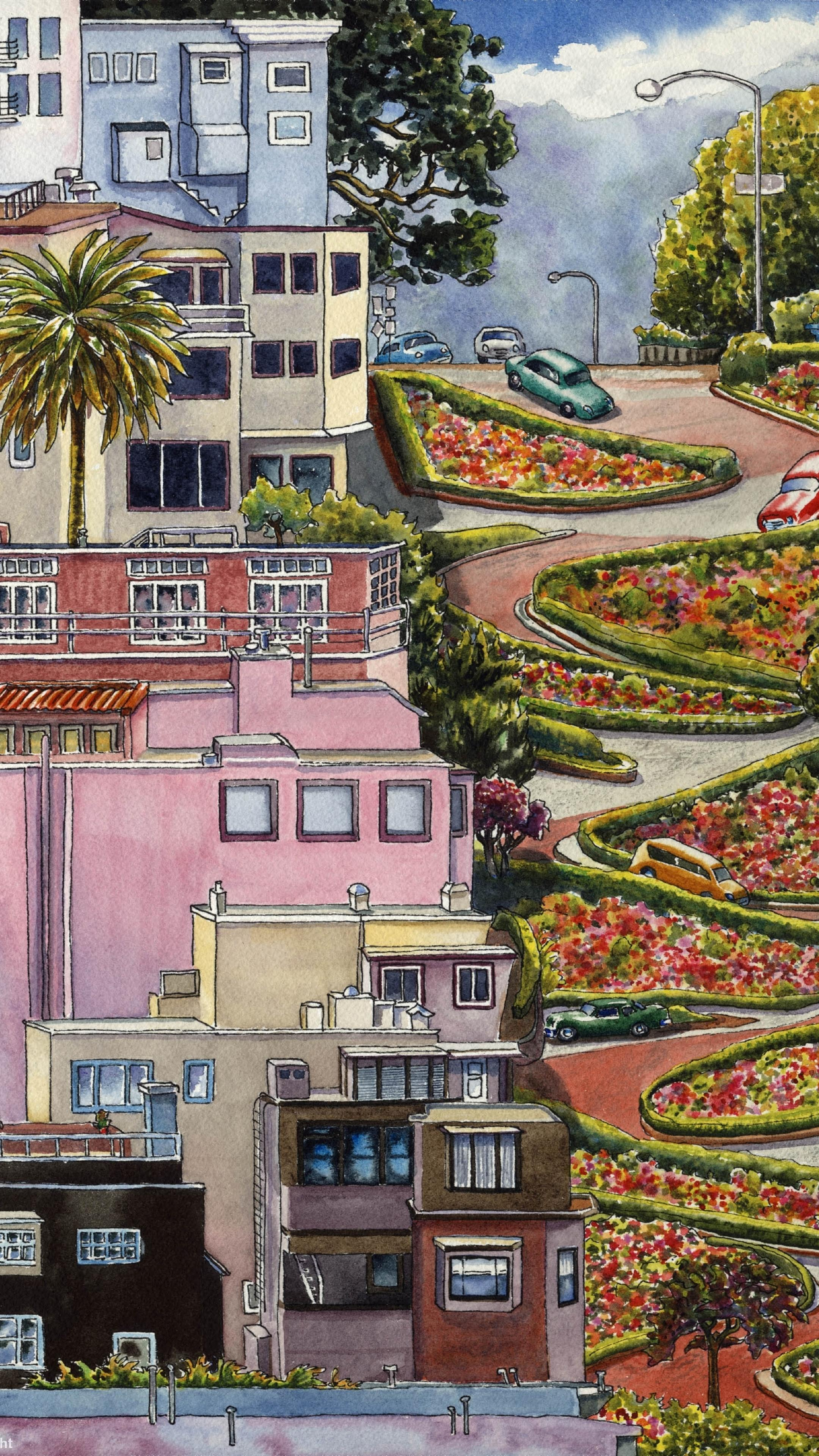 Download Lombard Street, San Francisco, California 240x400