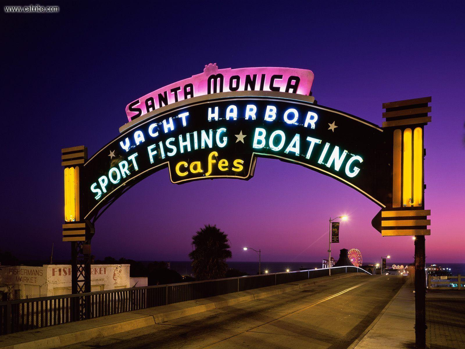 Known places: Santa Monica Pier Santa Monica California, picture nr