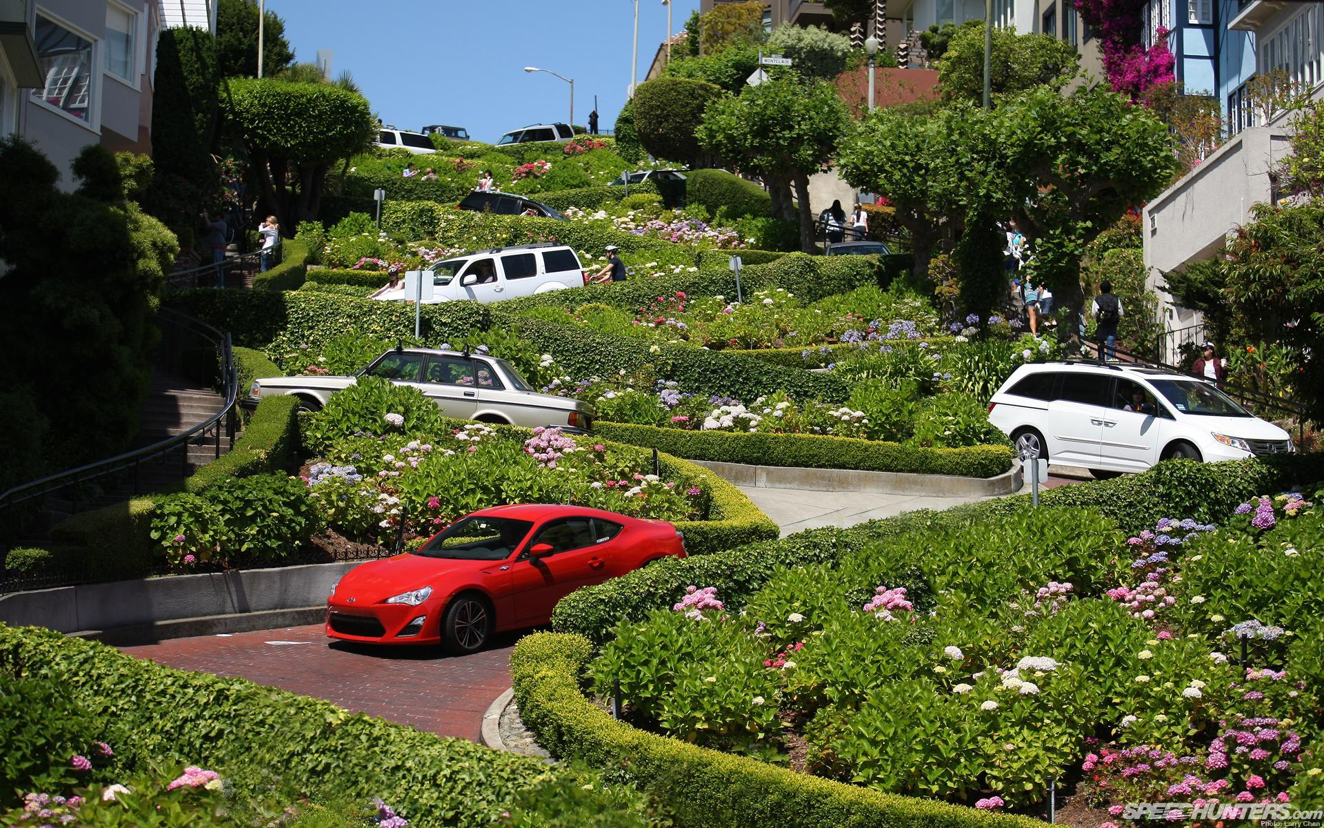 Lombard street, san francisco, california, art wallpapers