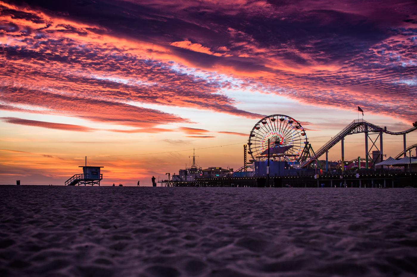 Sunset Santa Monica Pier Wallpapers