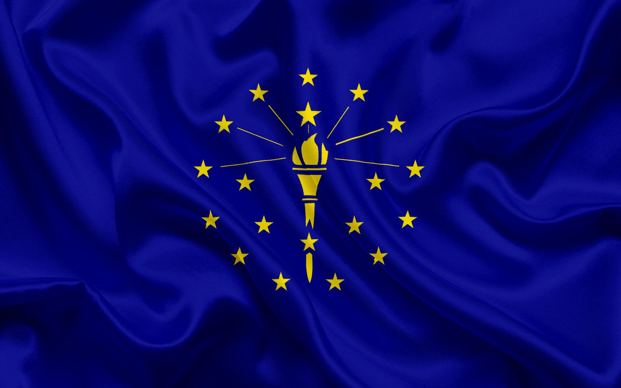 Download wallpapers Indiana Flag, flags of States, flag State of ...