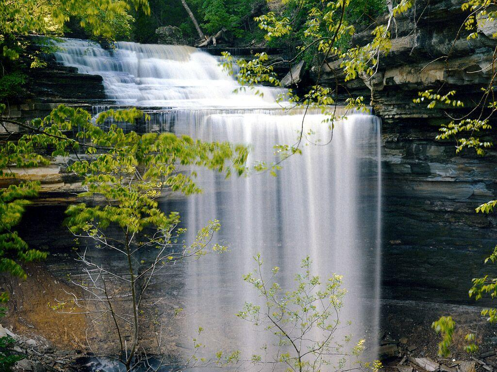 Indiana Clifty Falls State Park - Waterfalls Wallpaper