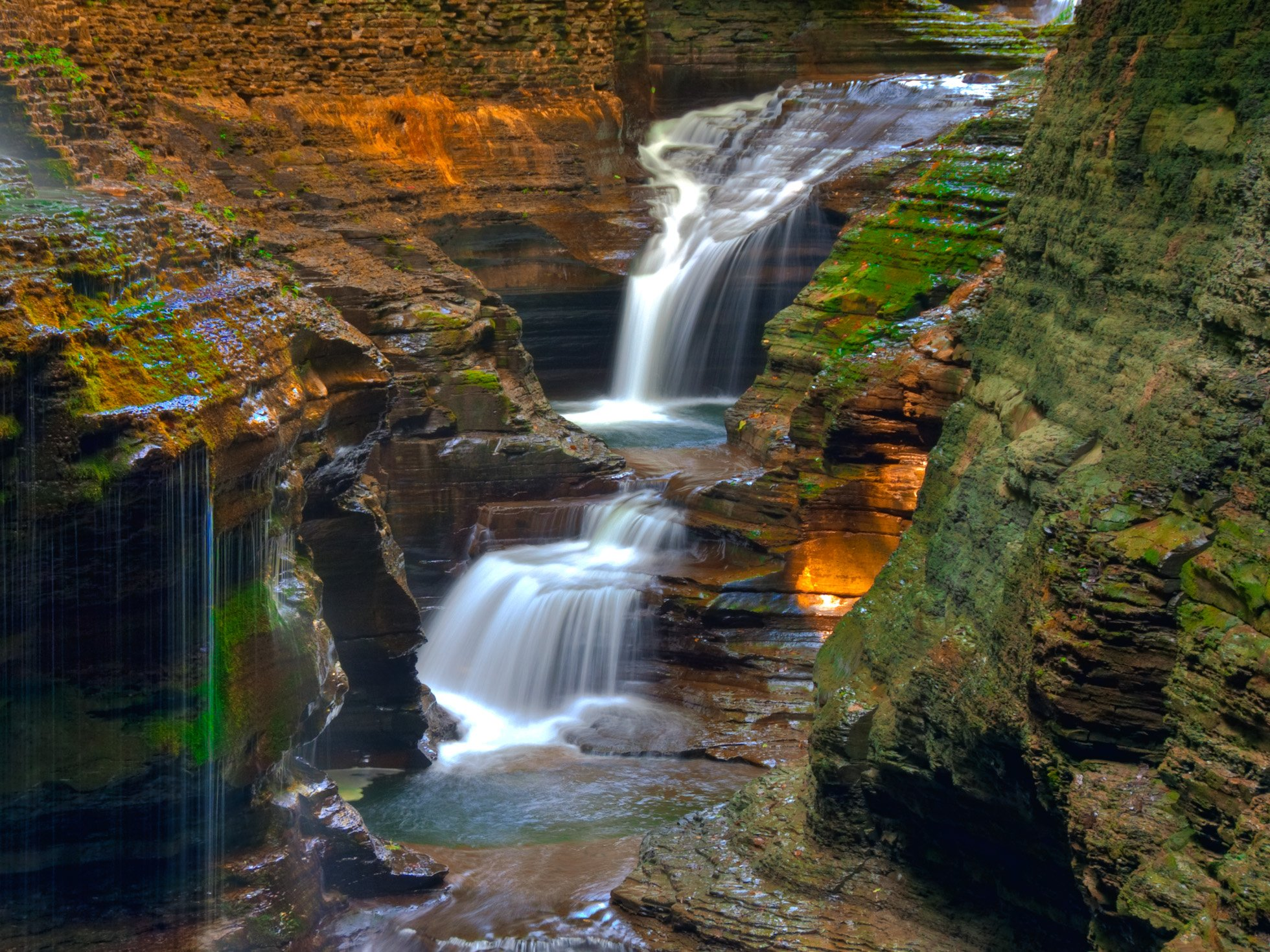 Watkin Glens State Park-N.Y. HD Wallpaper | Background Image ...