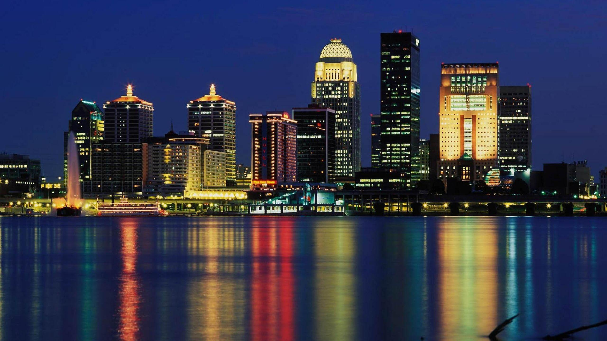 Download Wallpapers 2560x1440 Louisville, Skyline, Usa, Skyscraper