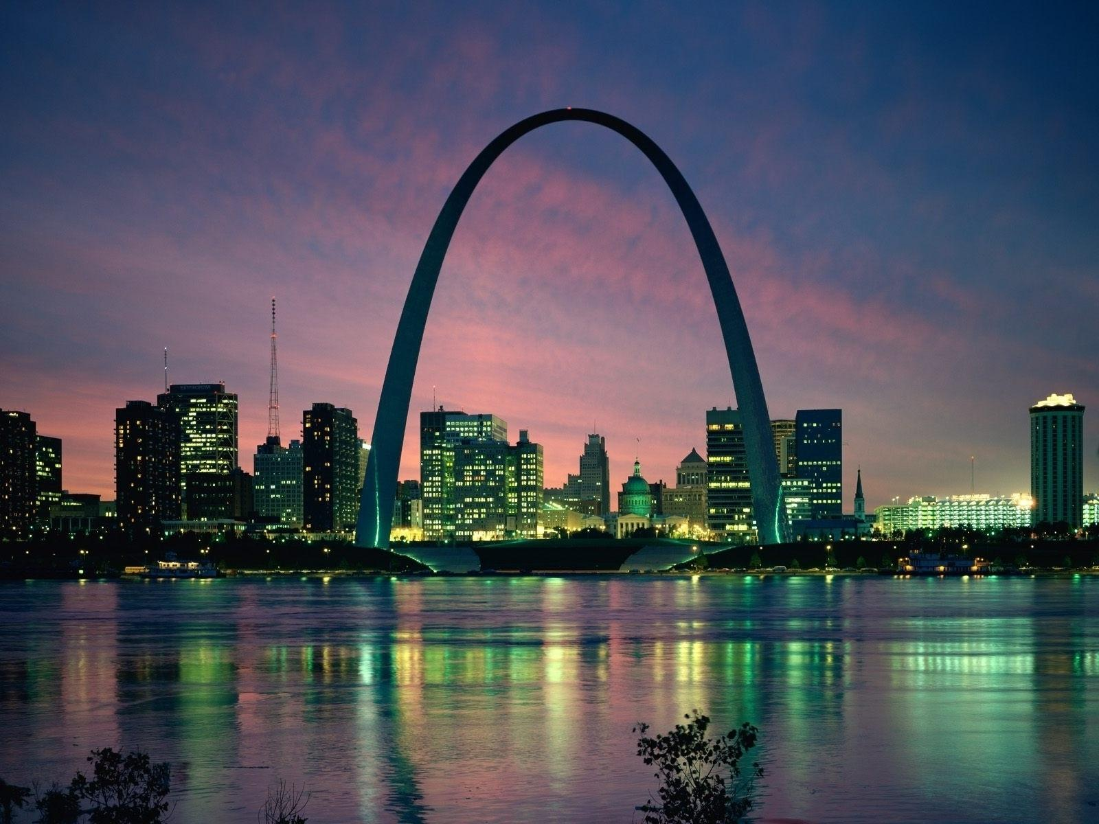 Cityscapes night architecture buildings st louis cities wallpaper ...