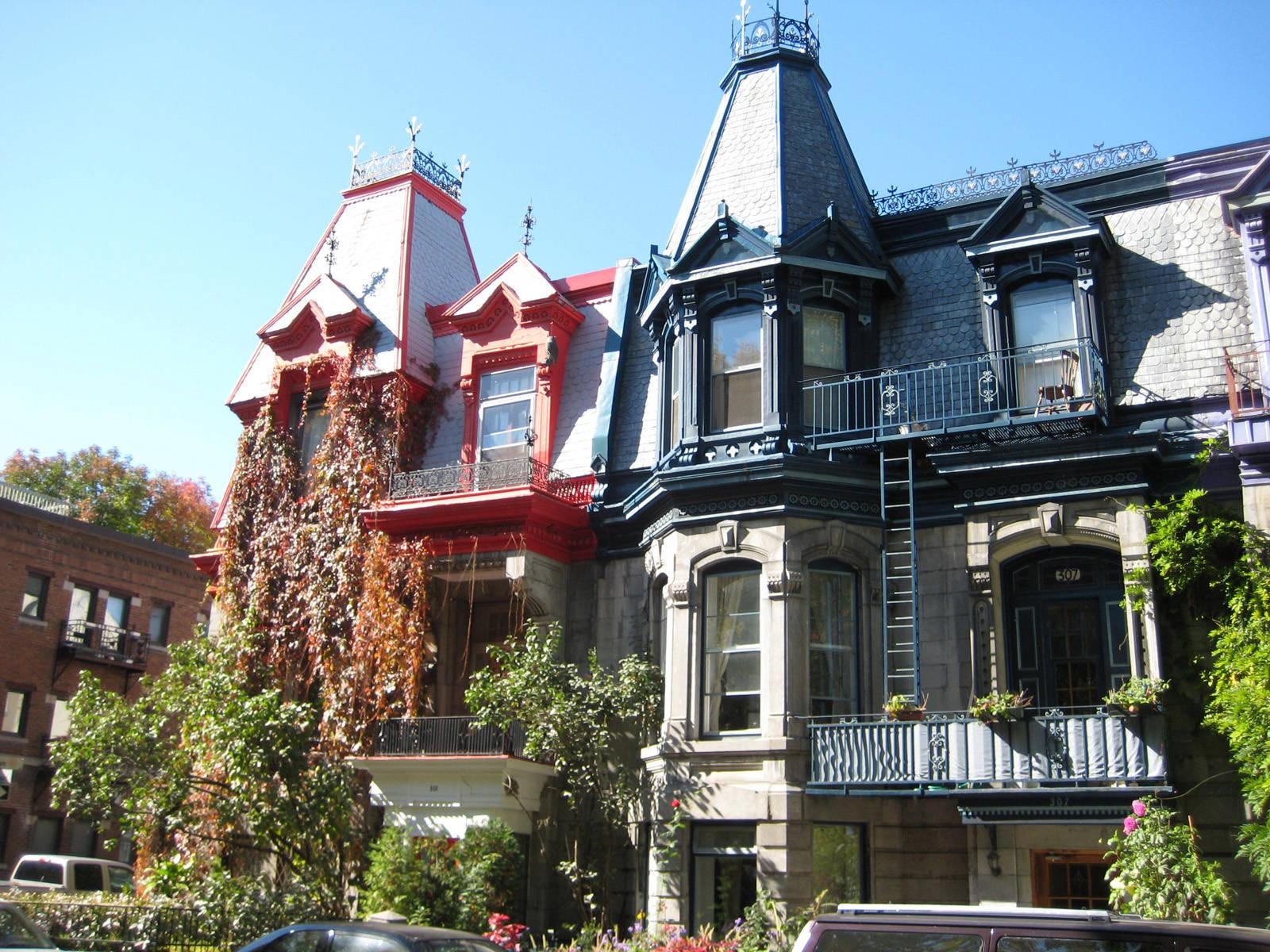 St Louis square homes in Montreal city | city wallpaper