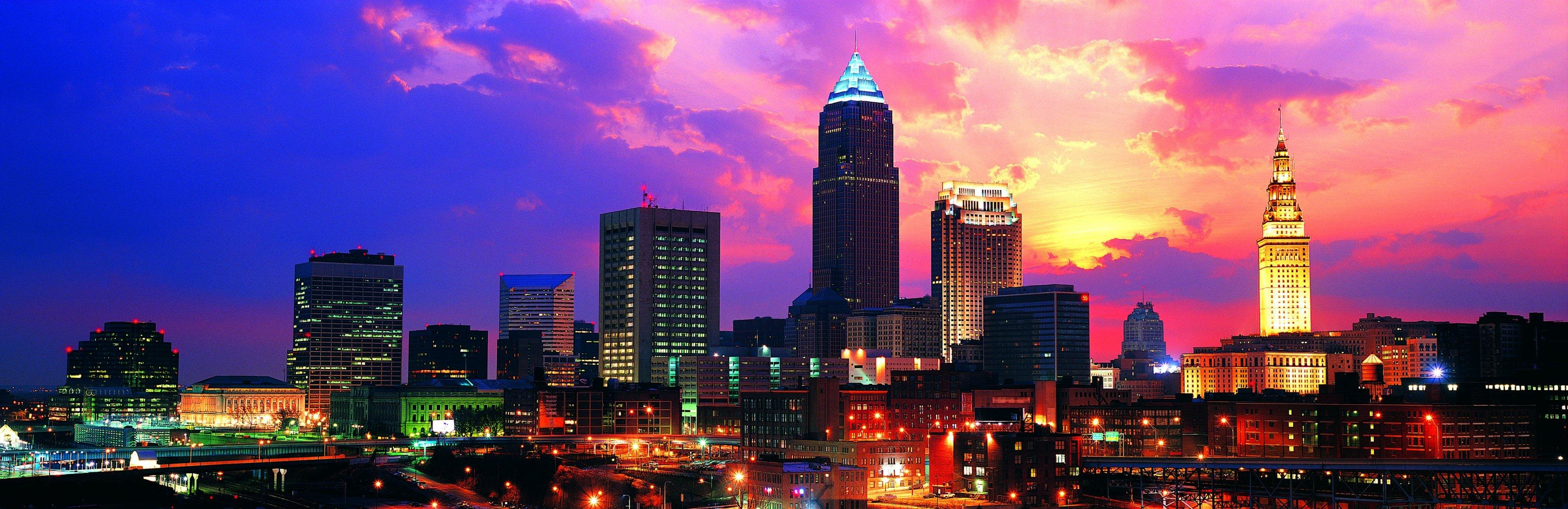 usa ohio cleveland city town HD wallpapers