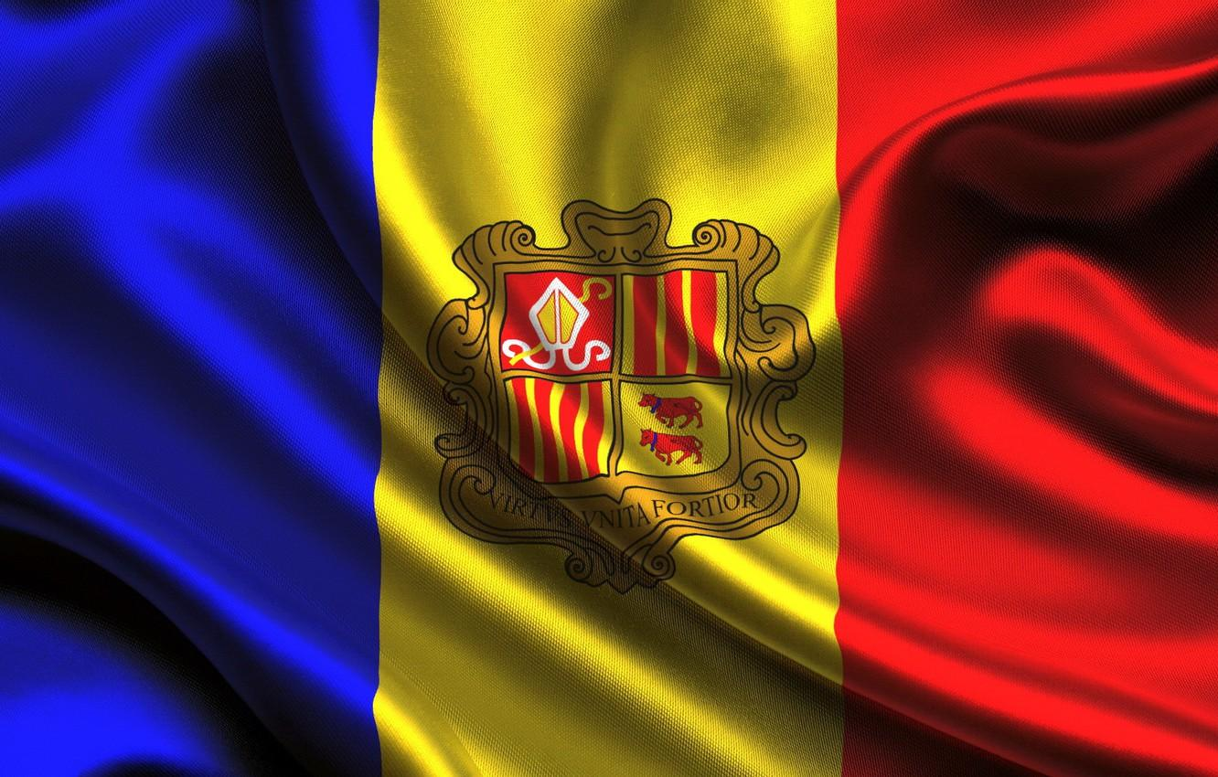Wallpaper the flag of the Principality of Andorra, flag of Andorra ...