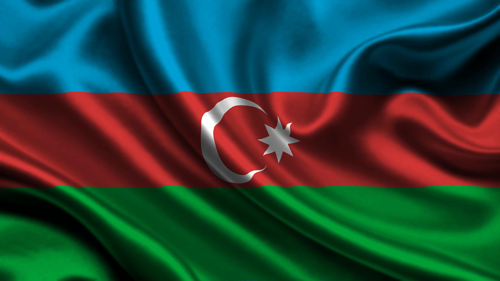 Pictures Azerbaijan Flag Stripes 2048x1152
