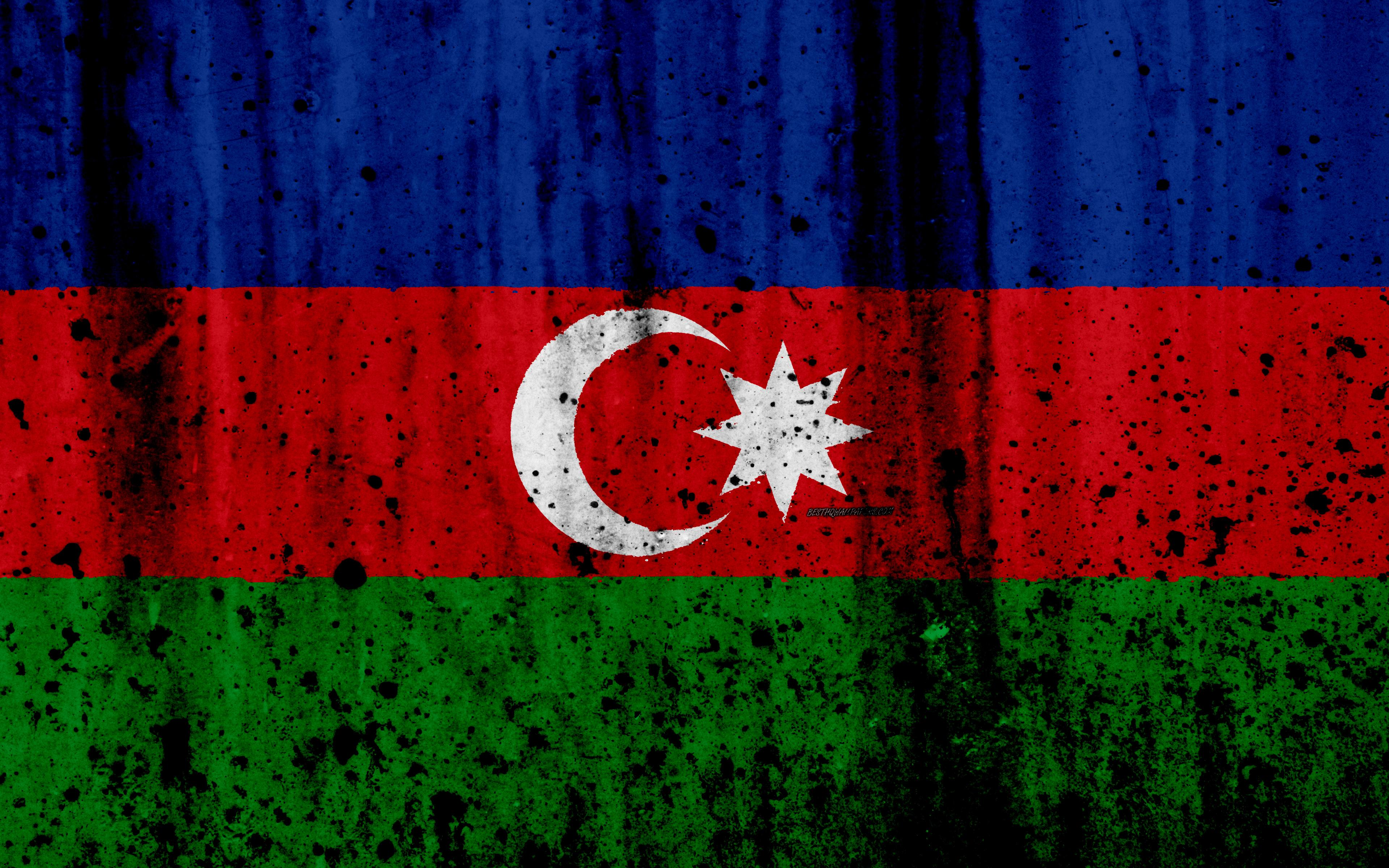 Download wallpapers Azerbaijani flag, 4k, grunge, flag of Azerbaijan ...