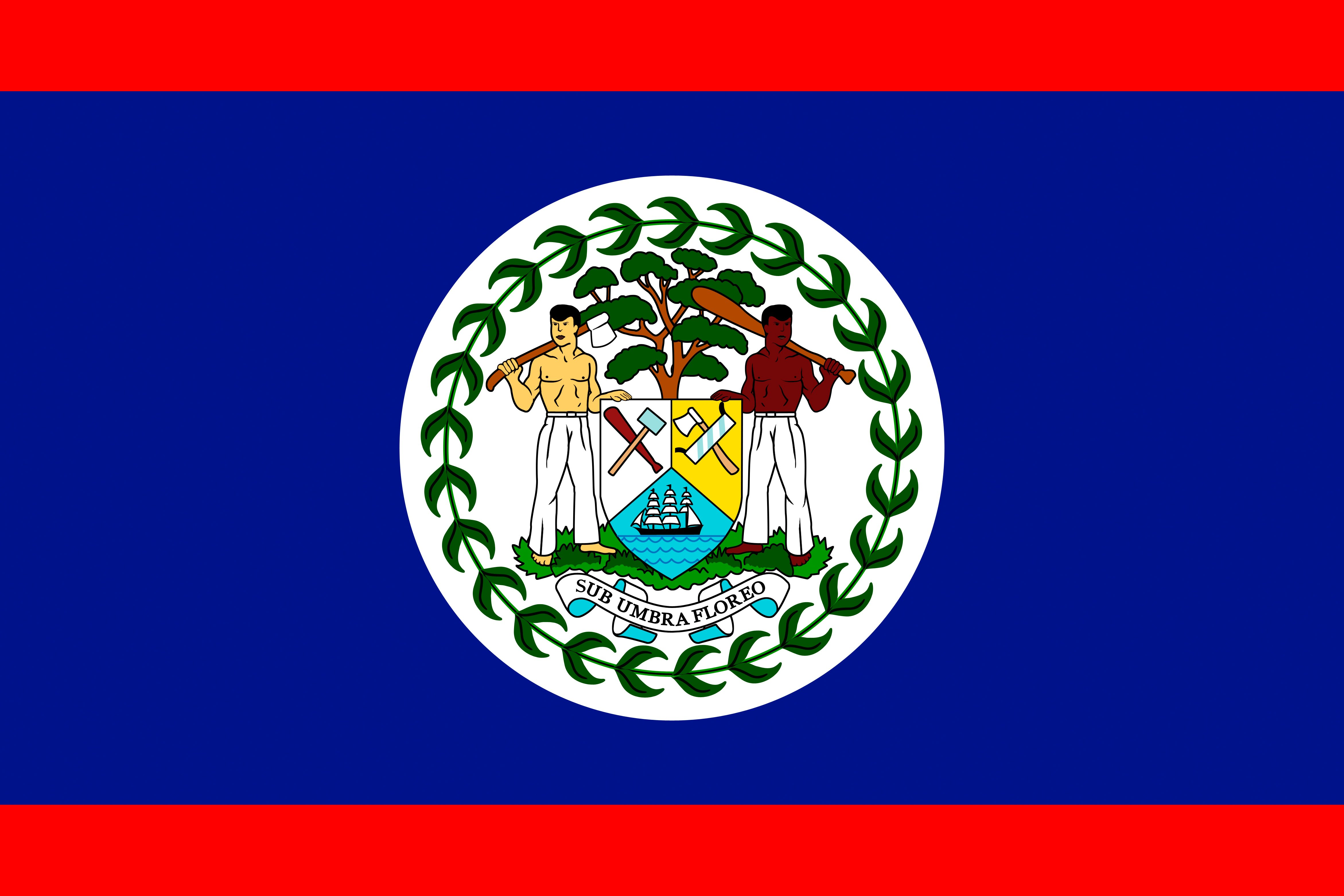 Belize Flag HD Wallpaper, Backgrounds Image
