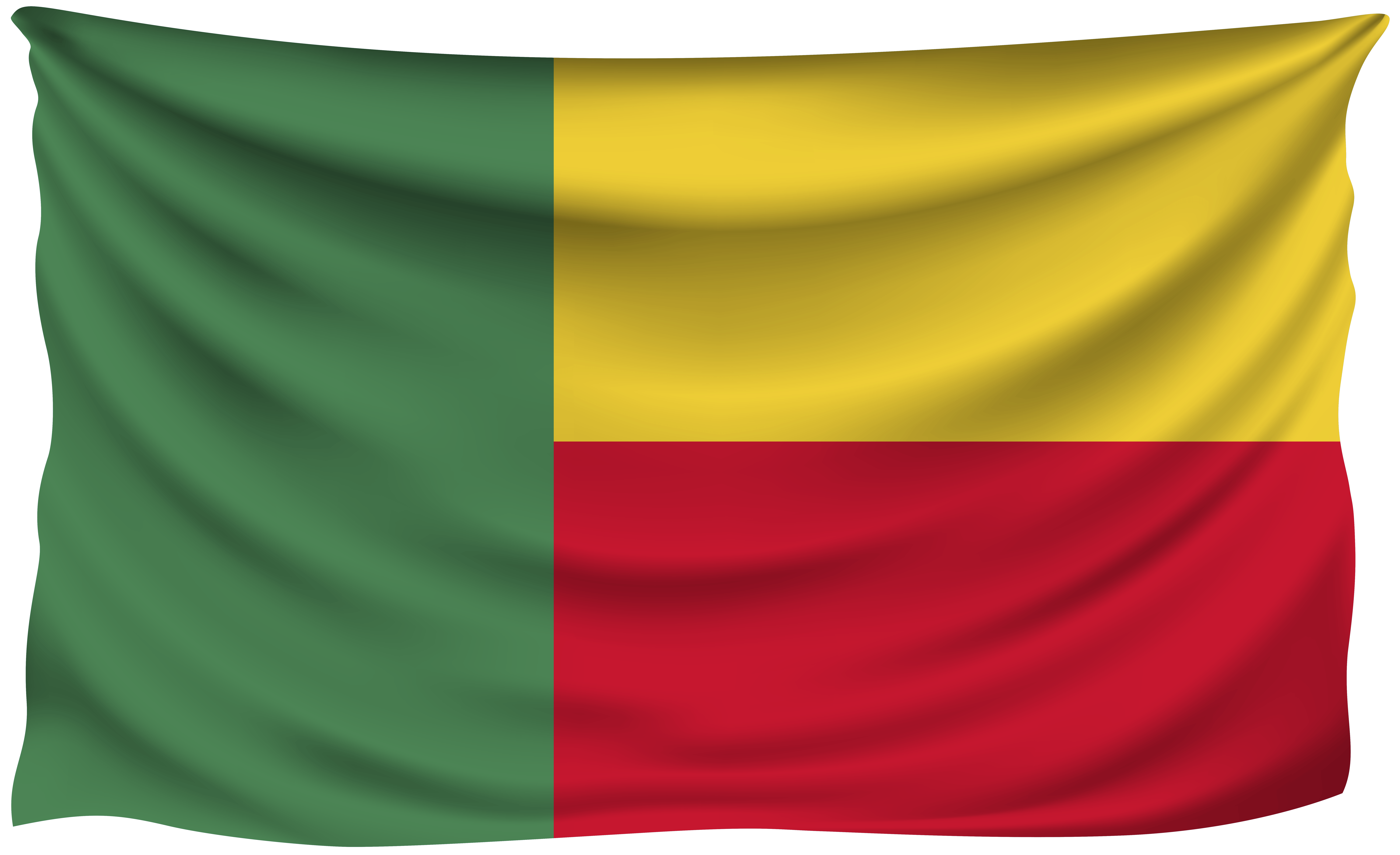 Benin Wrinkled Flag | Gallery Yopriceville - High-Quality Images ...