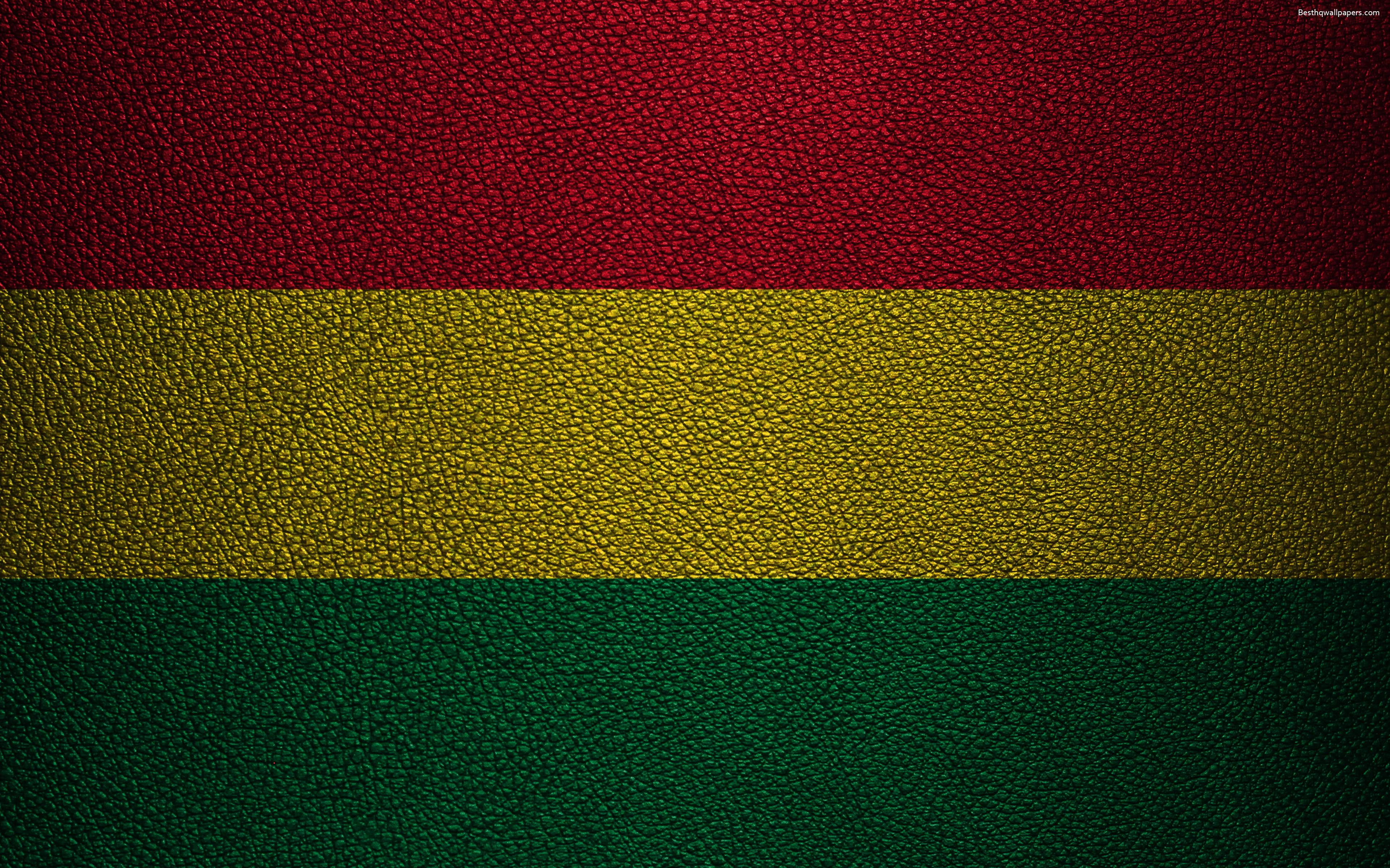 Download wallpapers Flag of Bolivia, 4K, leather texture, Bolivian ...