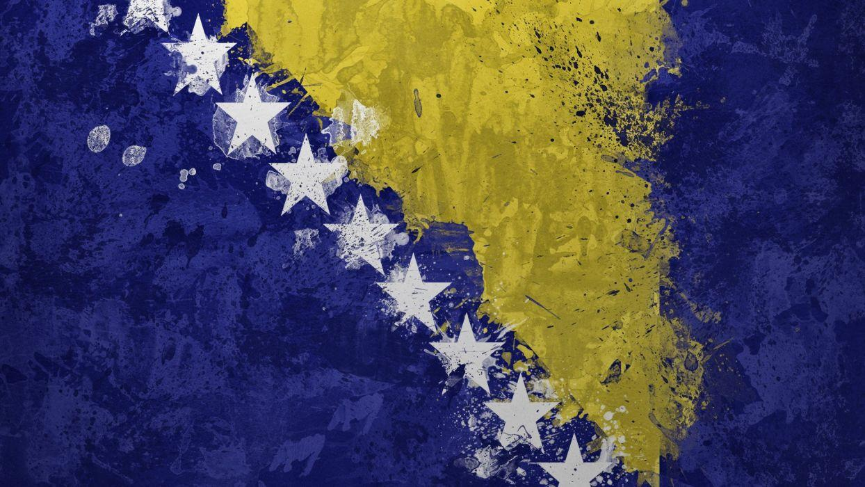 Flags Bosnia Bosnia and Herzegovina wallpaper | 1920x1080 | 260232 ...