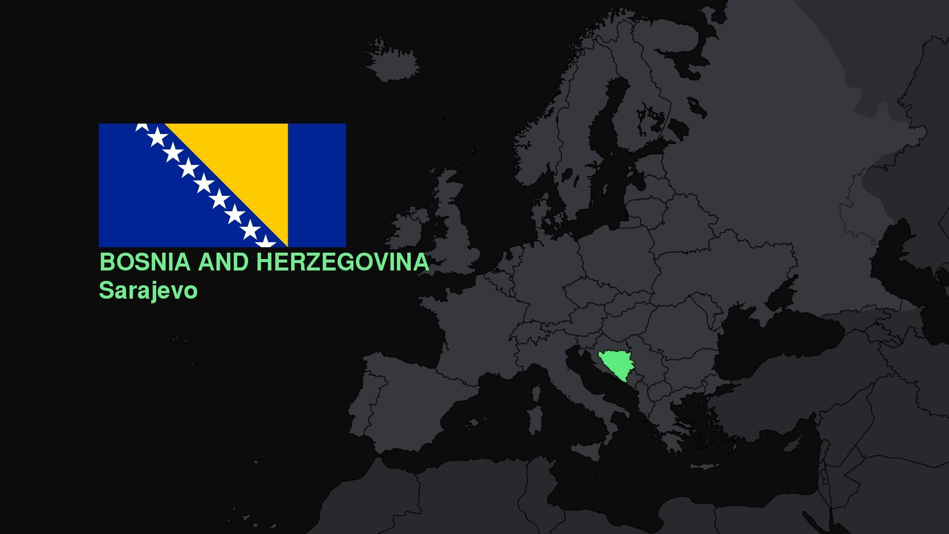 Bosnia and Herzegovina, Europe, Flag, Map Wallpapers HD / Desktop ...