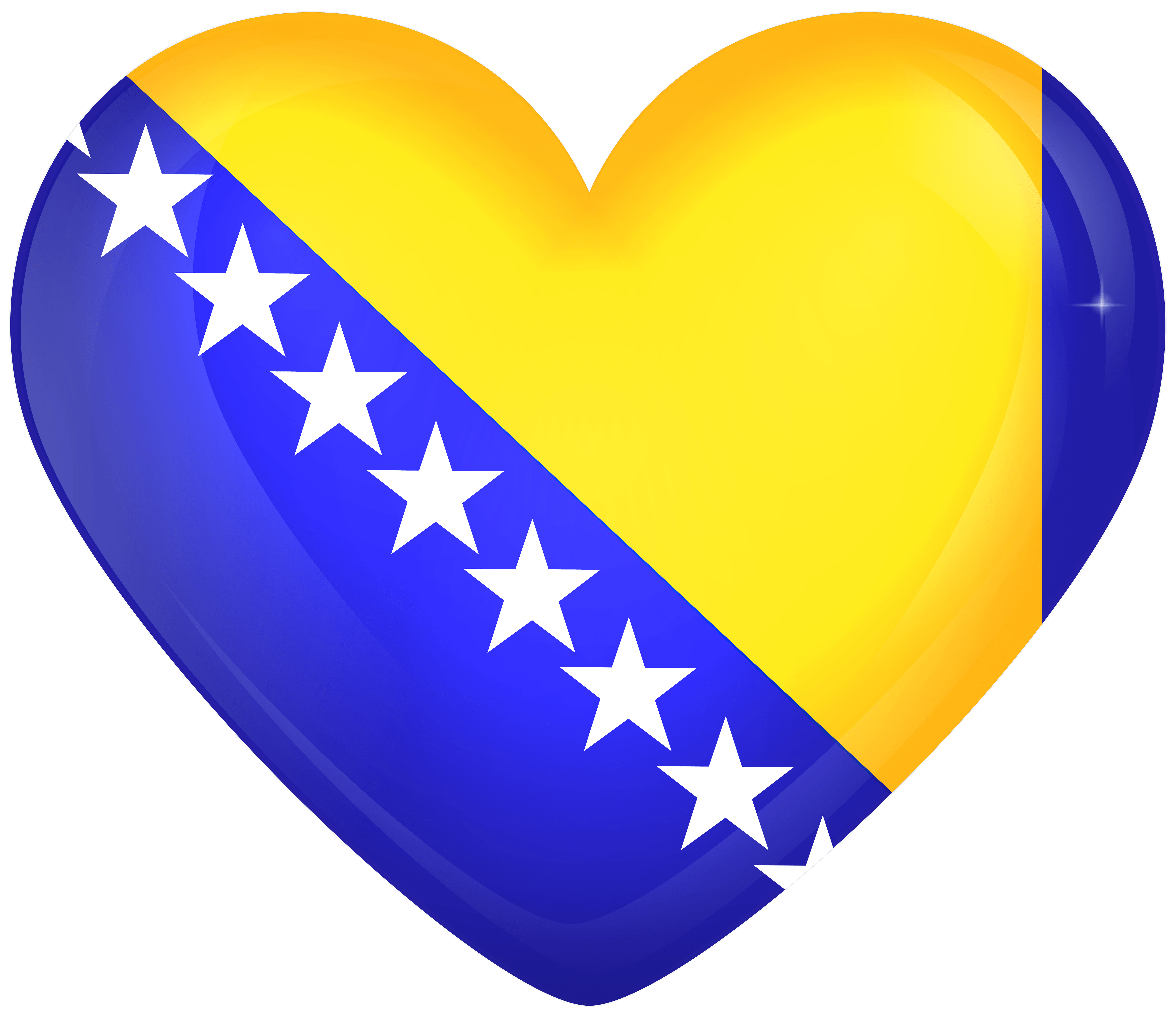 Bosnia and Herzegovina Large Heart Flag | Gallery Yopriceville ...