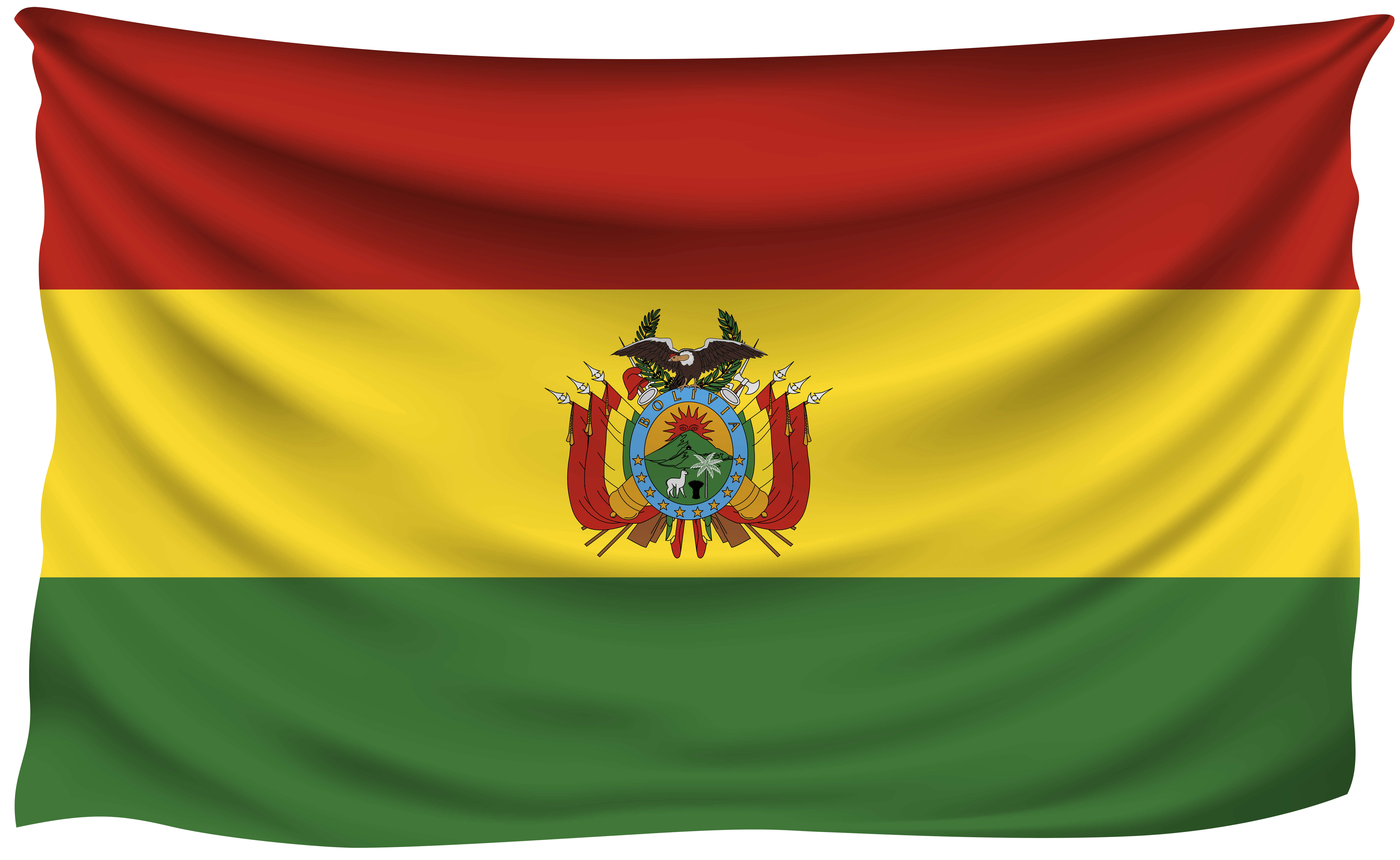 Bolivia Wrinkled Flag | Gallery Yopriceville - High-Quality Images ...