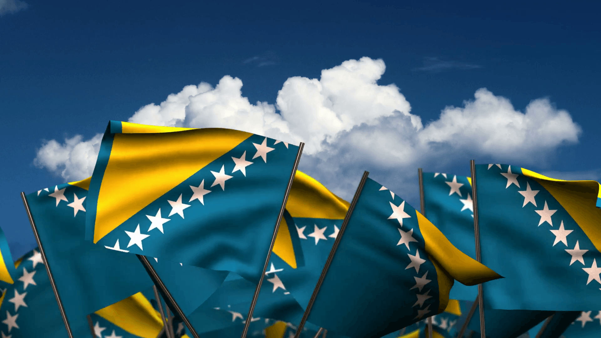Waving Bosnia and Herzegovinan Flags Motion Background - Storyblocks ...