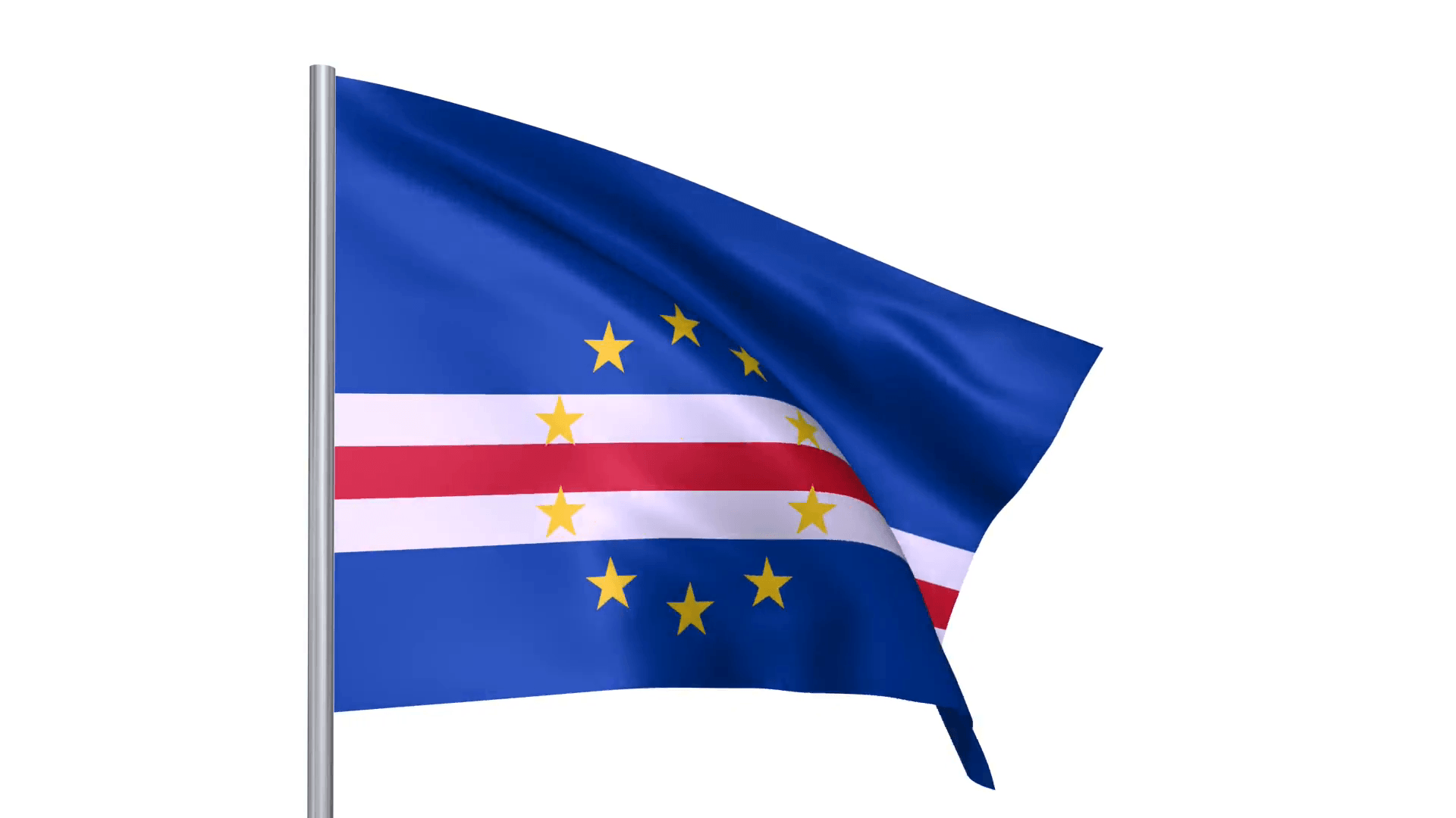 Flags country Republic of Cabo Verde Cape Verde national flag Motion ...