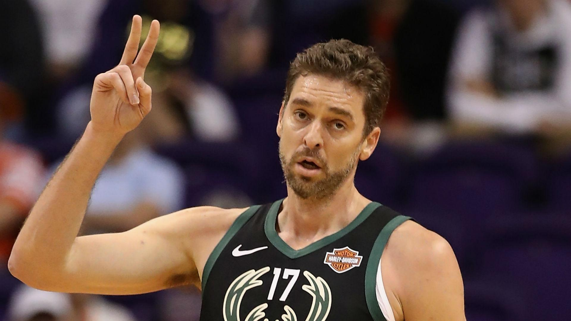 Report: Bucks' Gasol (ankle) could miss one month
