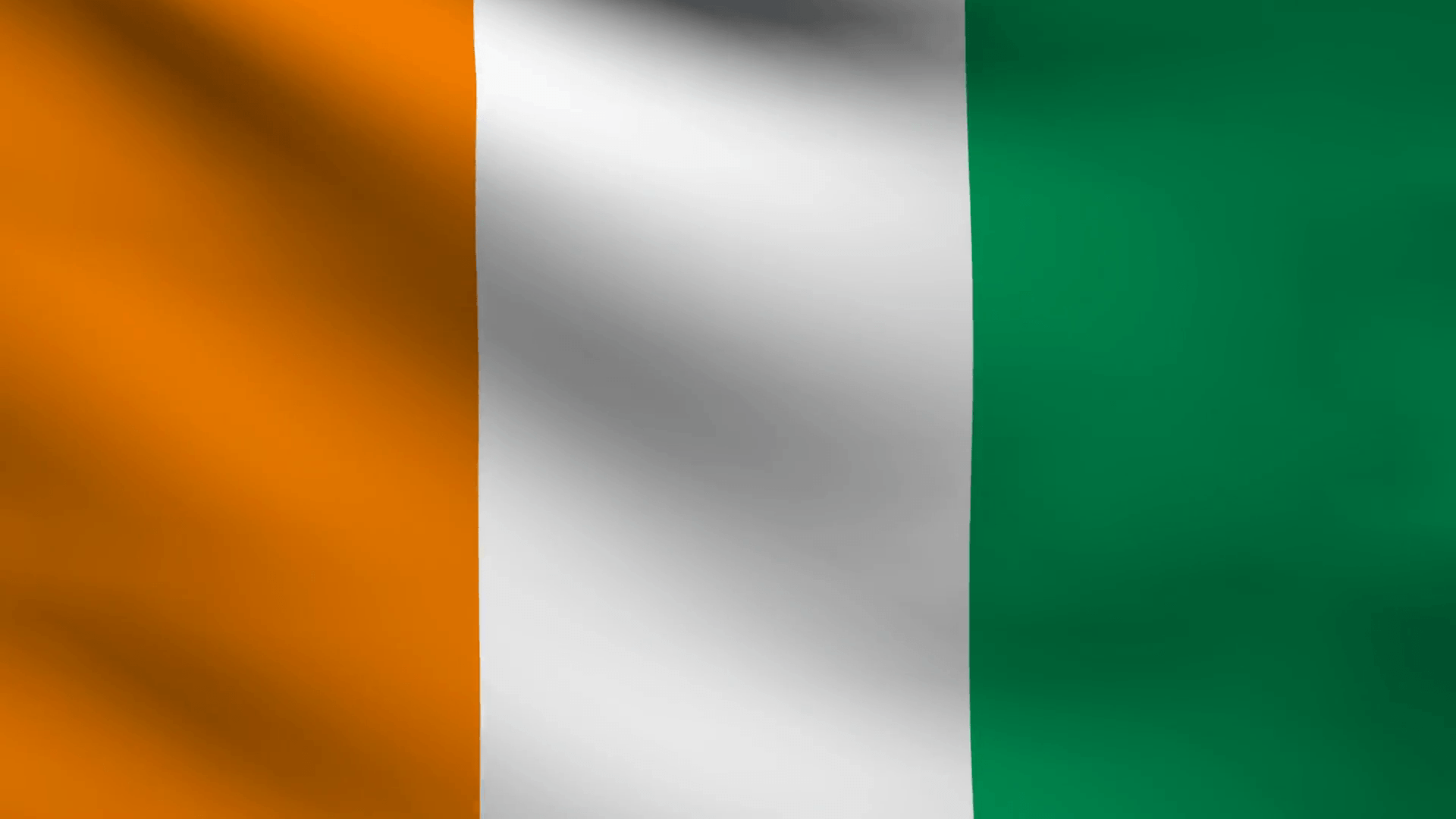 Animation of Ivory coast country flag Motion Backgrounds