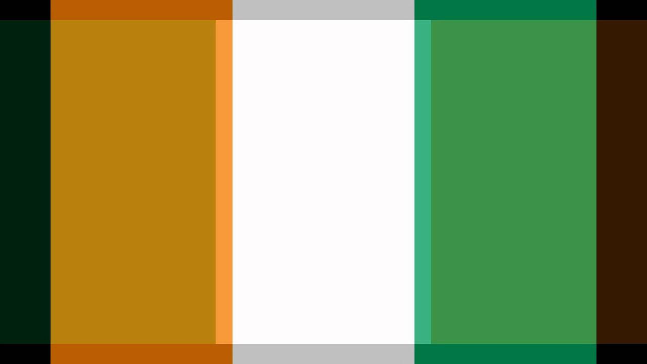 A Tribute to the flags of Ireland and Ivory Coast flags.