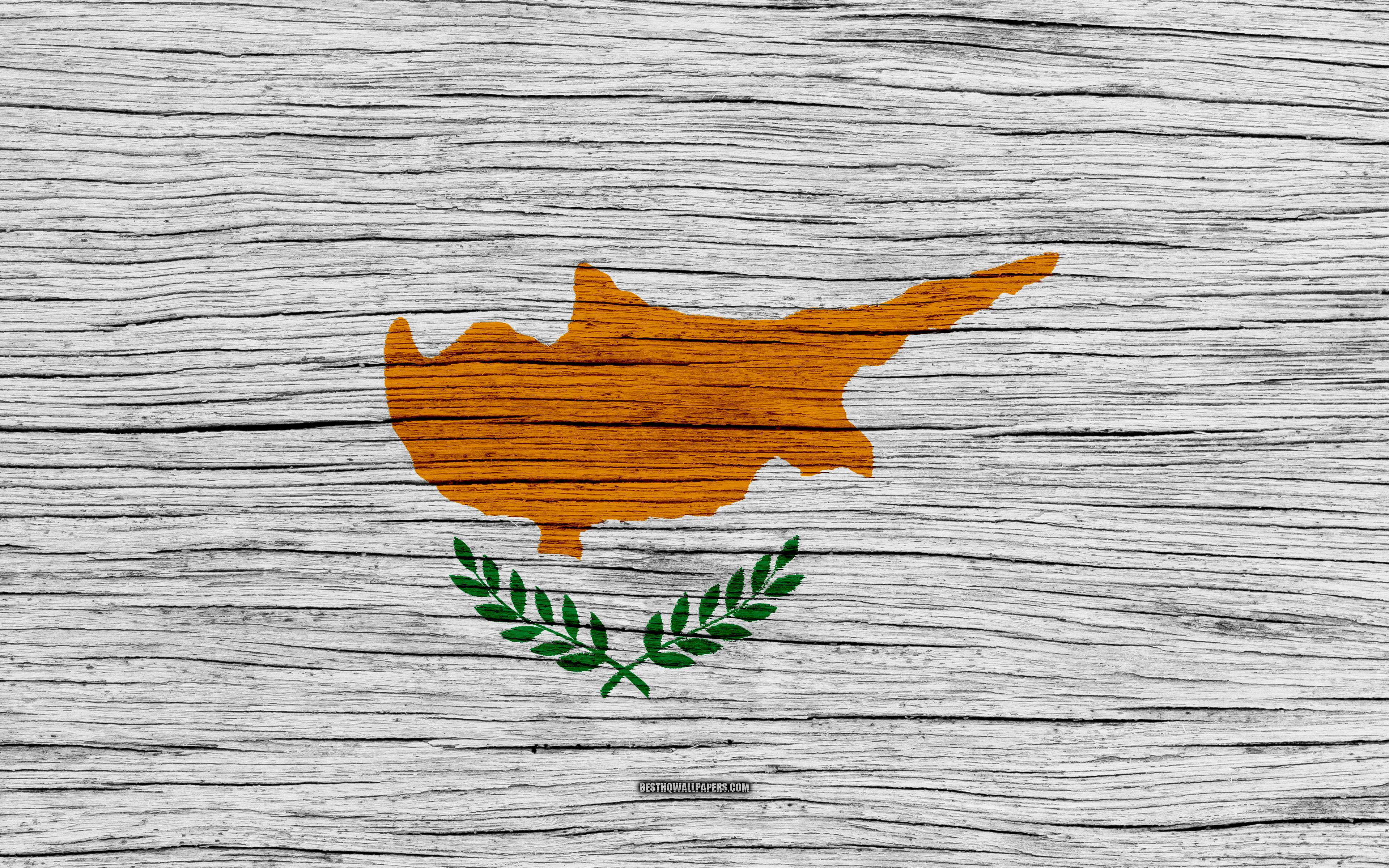 Download wallpapers Flag of Cyprus, 4k, Asia, wooden texture ...
