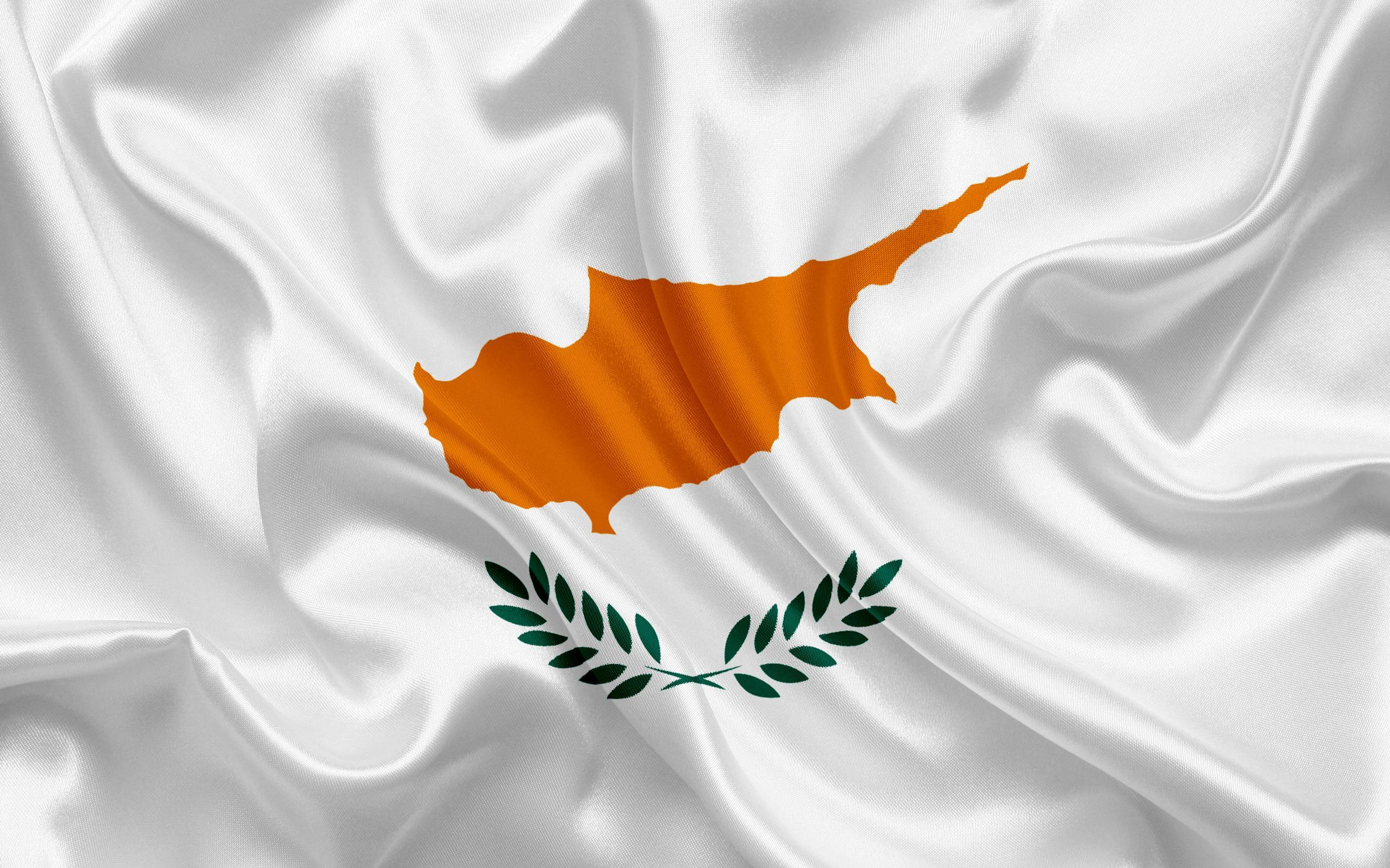 Download wallpapers flag of Cyprus, Europe, Cyprus, white silk flag ...