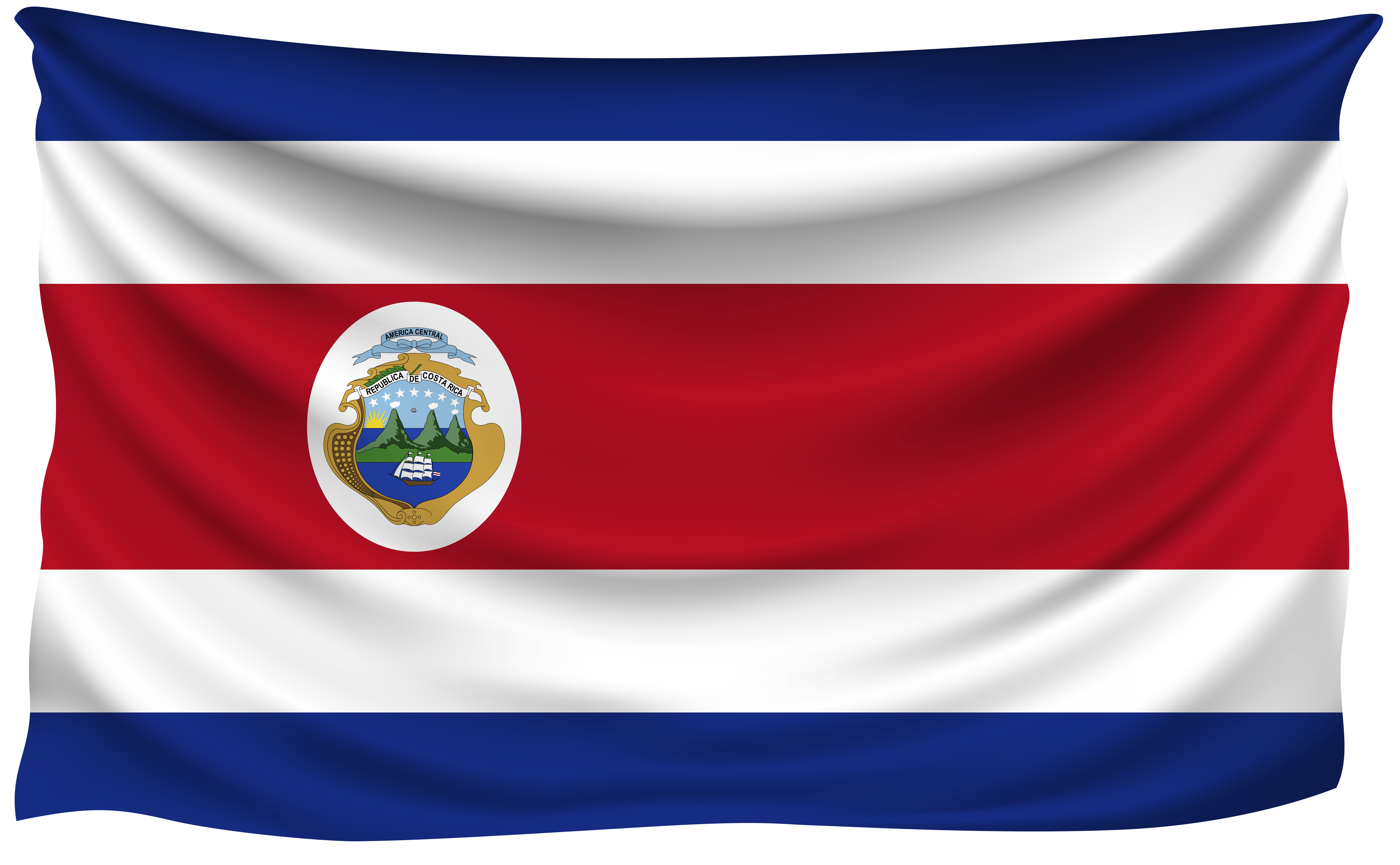 Costa Rica Wrinkled Flag | Gallery Yopriceville - High-Quality ...