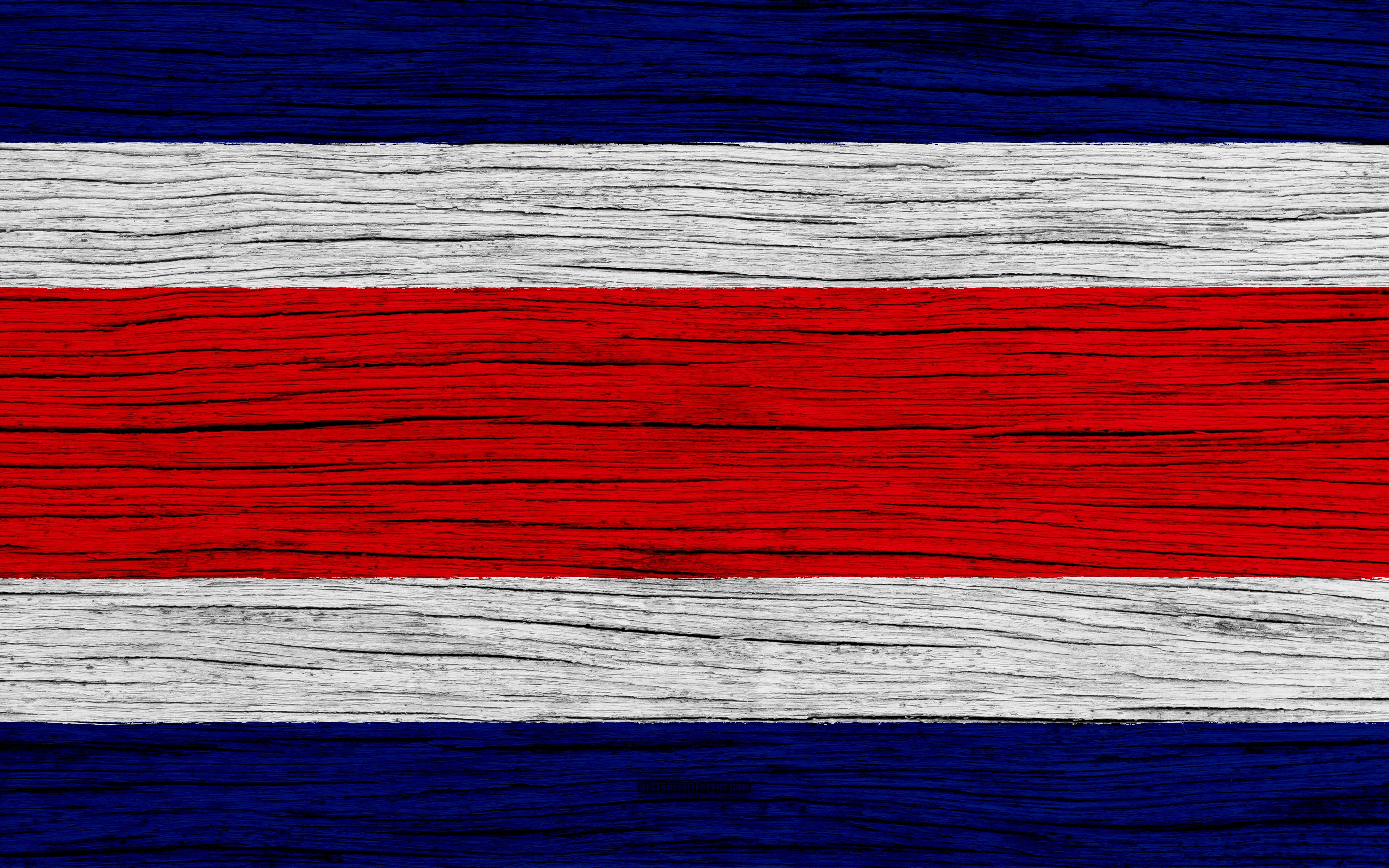 Download wallpapers Flag of Costa Rica, 4k, North America, wooden ...